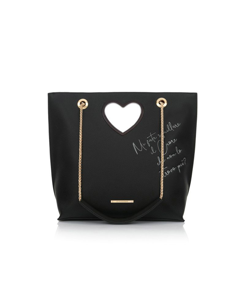 Borsa Le Pandorine Love Bag Cuore Black