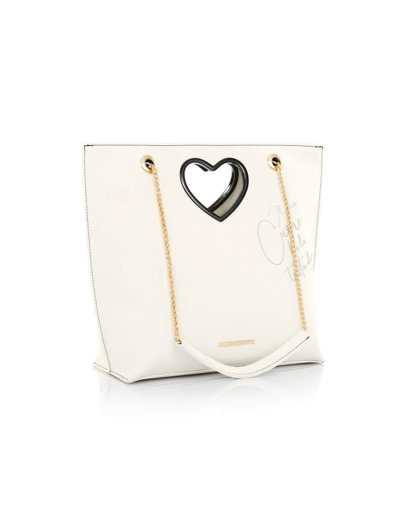 Borsa Le Pandorine Love Bag Testa White laterale