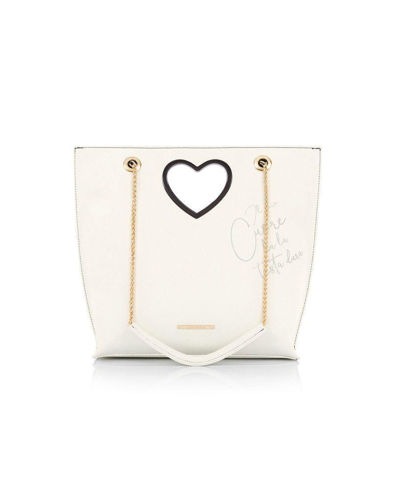 Borsa Le Pandorine Love Bag Testa White