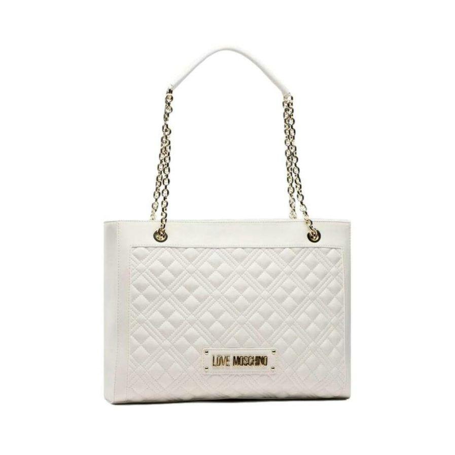 Borsa Shopping Love Moschino 4006 Bianco
