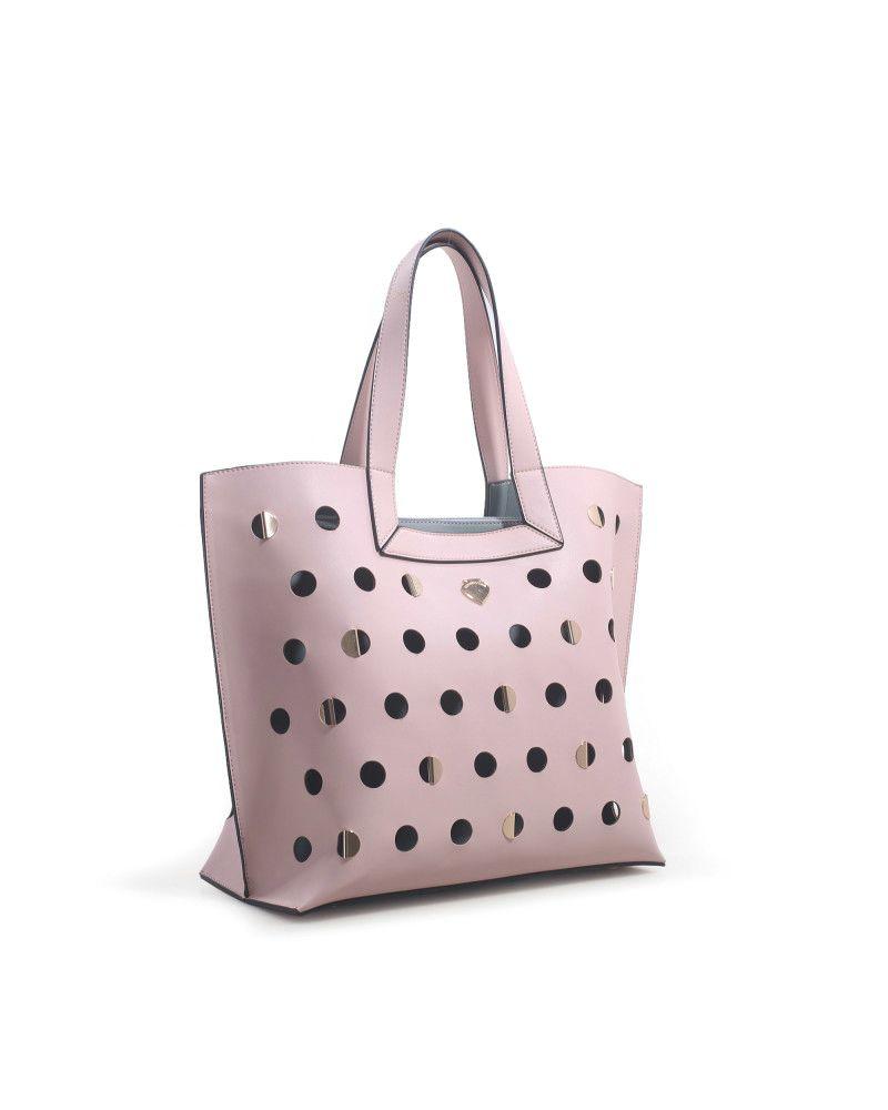 Borsa Shopping Le Pandorine Iris Bag Sogna Rose laterale