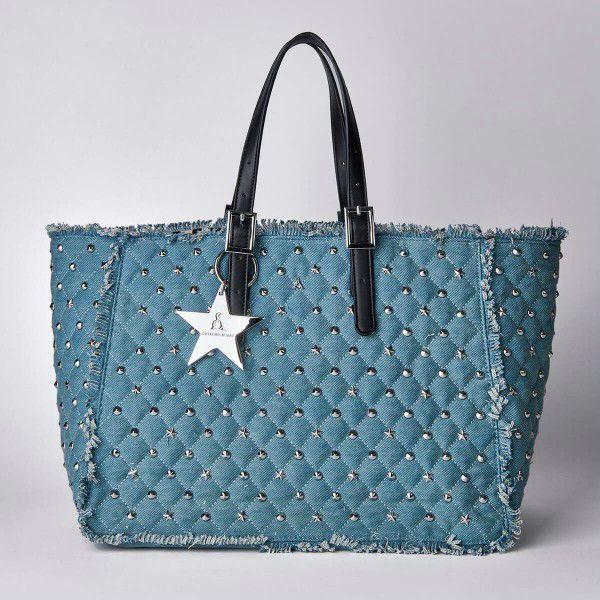 Borsa Shopping Pash Bag Atelier Du Sac -10600 REB-91B Denim Chiaro