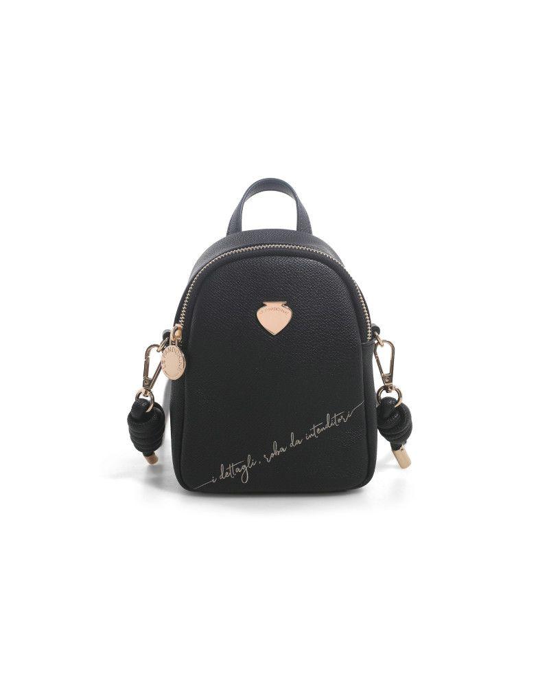 Borsa Tracolla MINI Gardenia Backpack Mini Dettagli Black