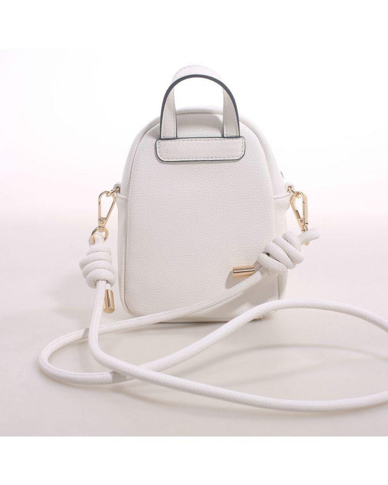 Borsa Tracolla Mini Gardenia Backpack Mini Progress White retro