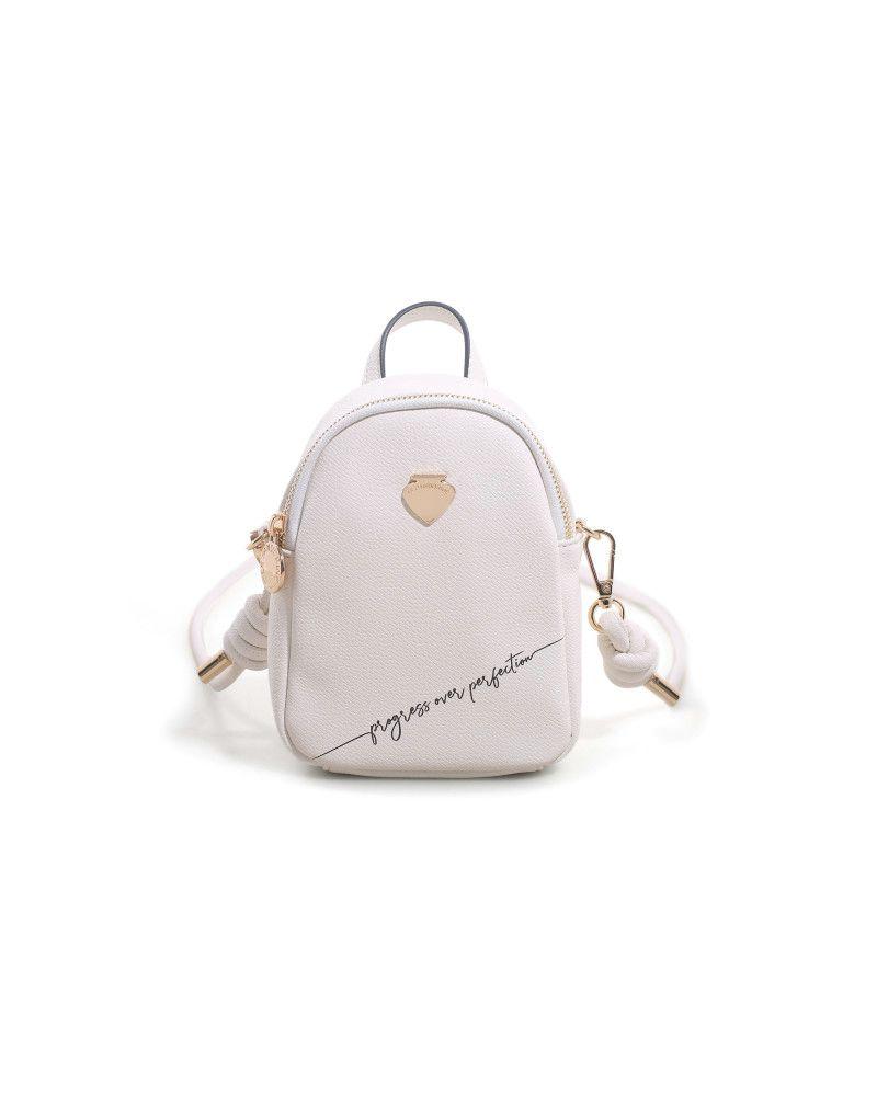 Borsa Tracolla Mini Gardenia Backpack Mini Progress White