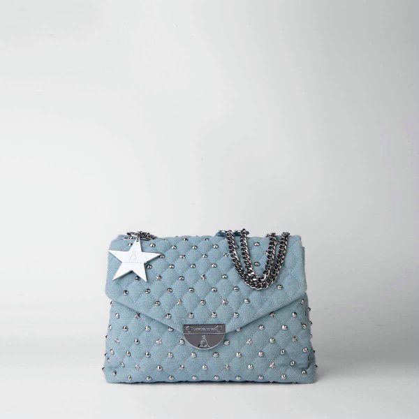 Borsa Tracolla Pash Bag Atelier Du Sac 10606-REB-91B Denim Chiaro