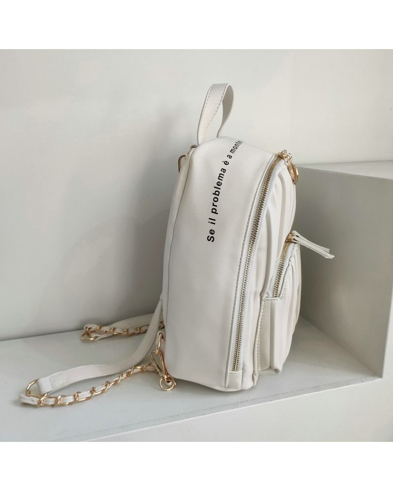 Cris Backpack Mare White laterale
