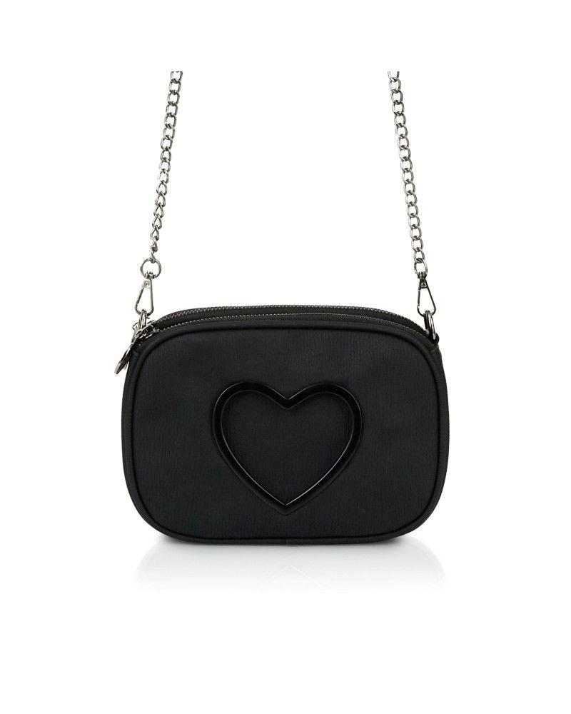 Pochette Tracolla Le Pandorine Love Mini Dettagli Black