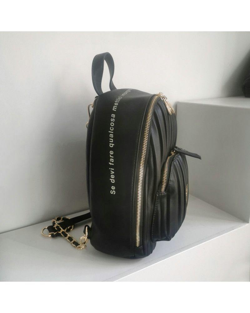 Zaino Le Pandorine Cris Backpack Stile Black laterale