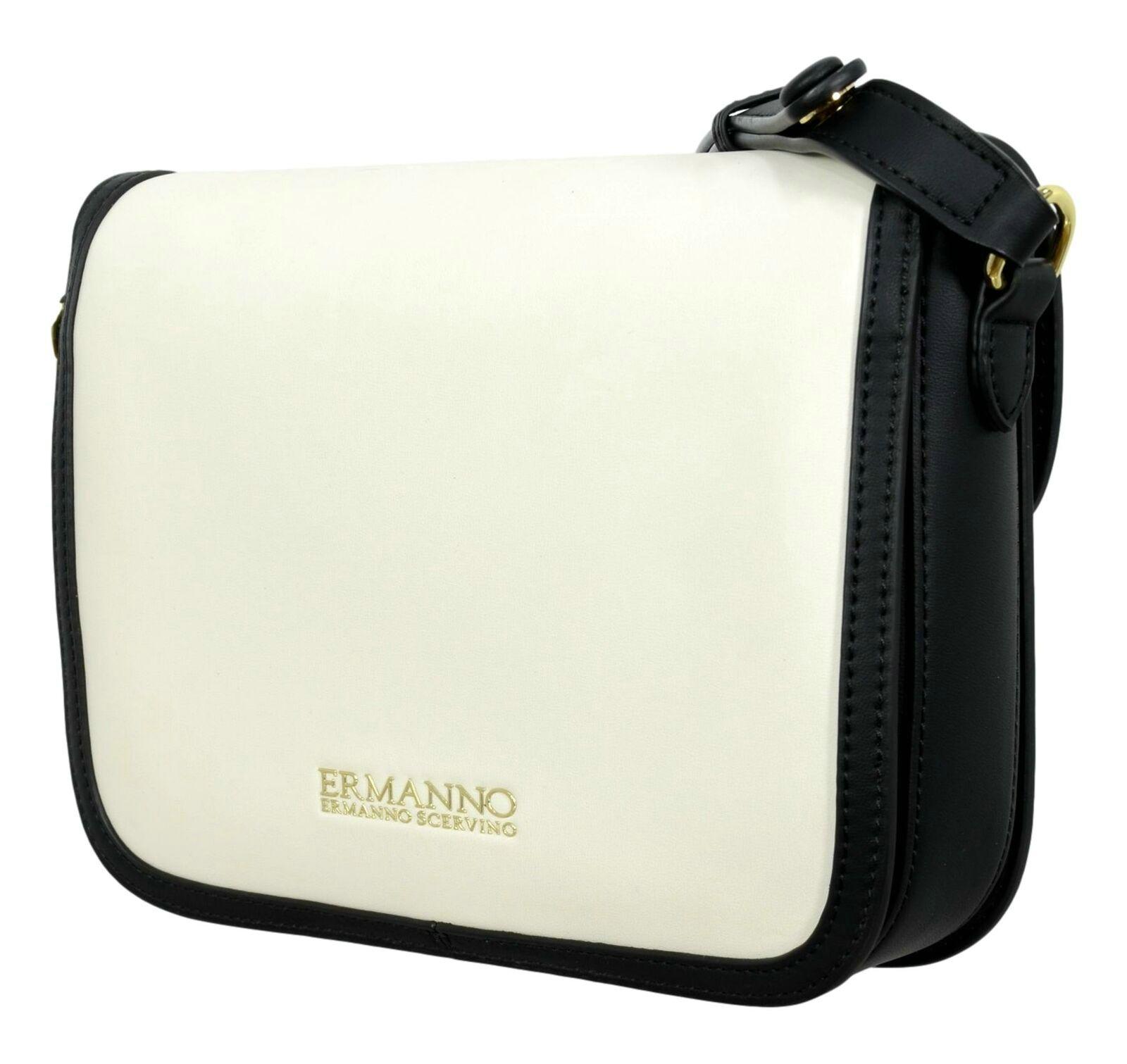 Borsa Ermanno Scervino Medium Flap Bag Joey 12401155 whiteblack retro