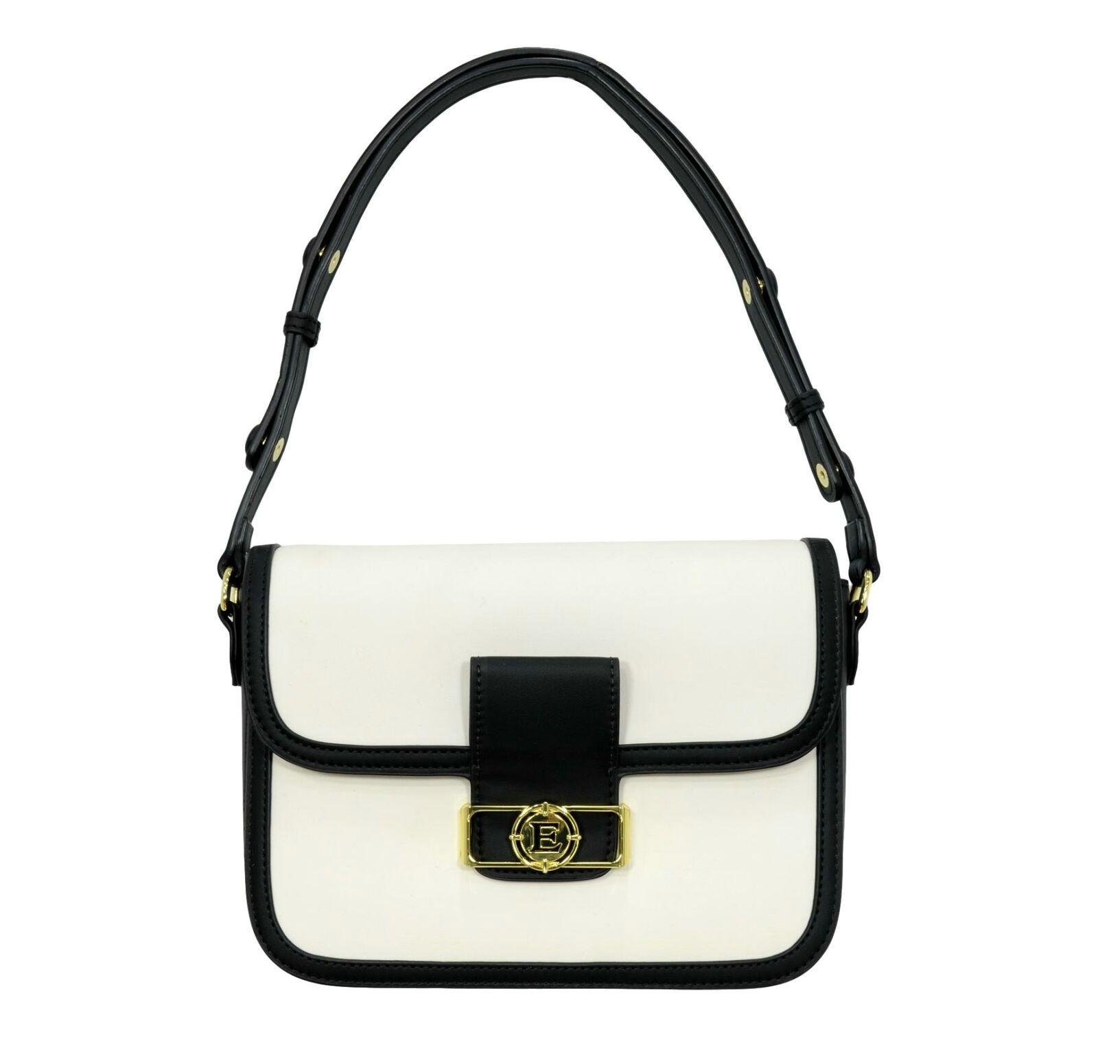 Borsa Ermanno Scervino Medium Flap Bag Joey 12401155 whiteblack
