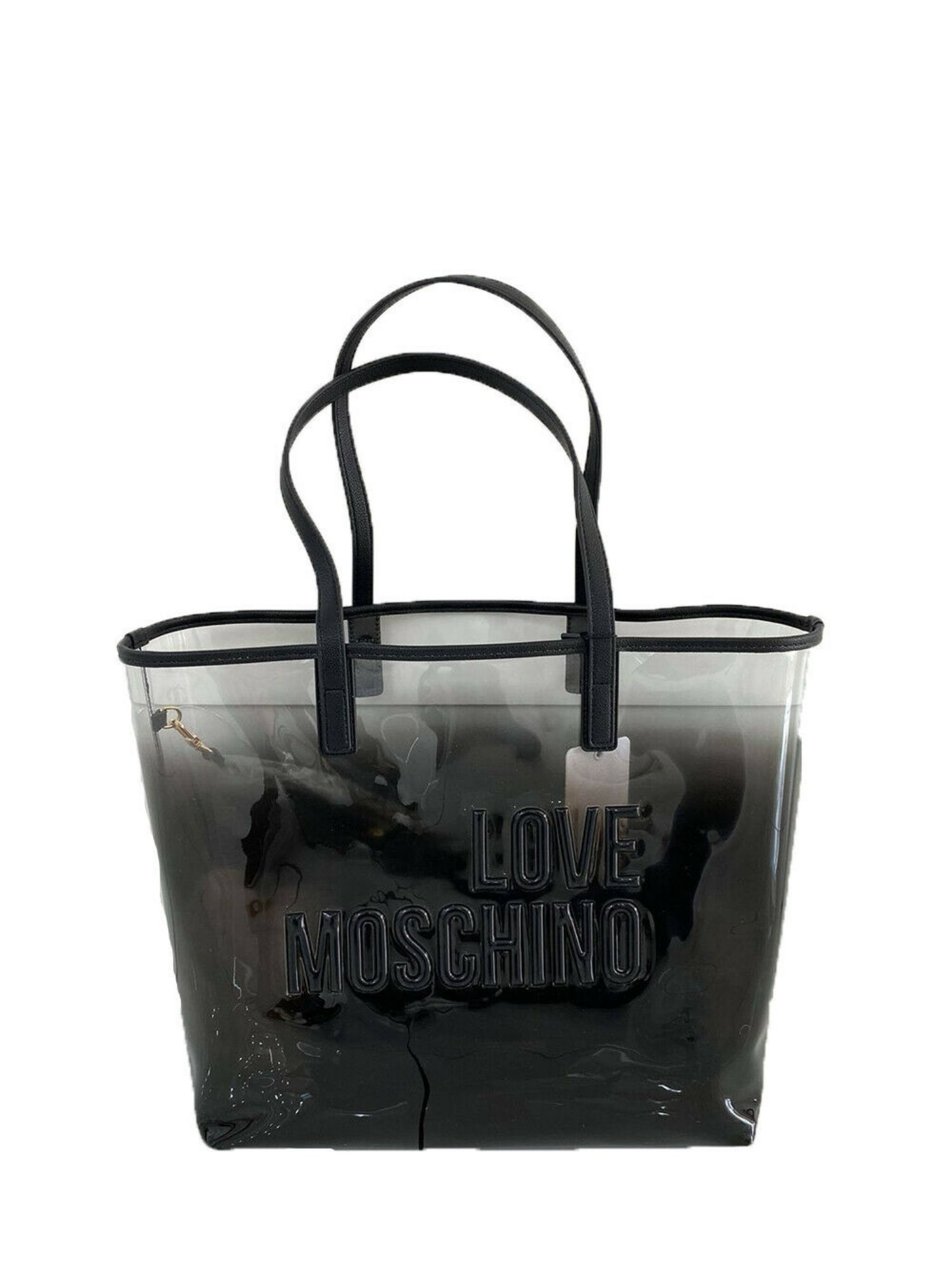 Borsa Shopper Love Moschino JC4255PP0CI100A in PVC Sfumato Nero