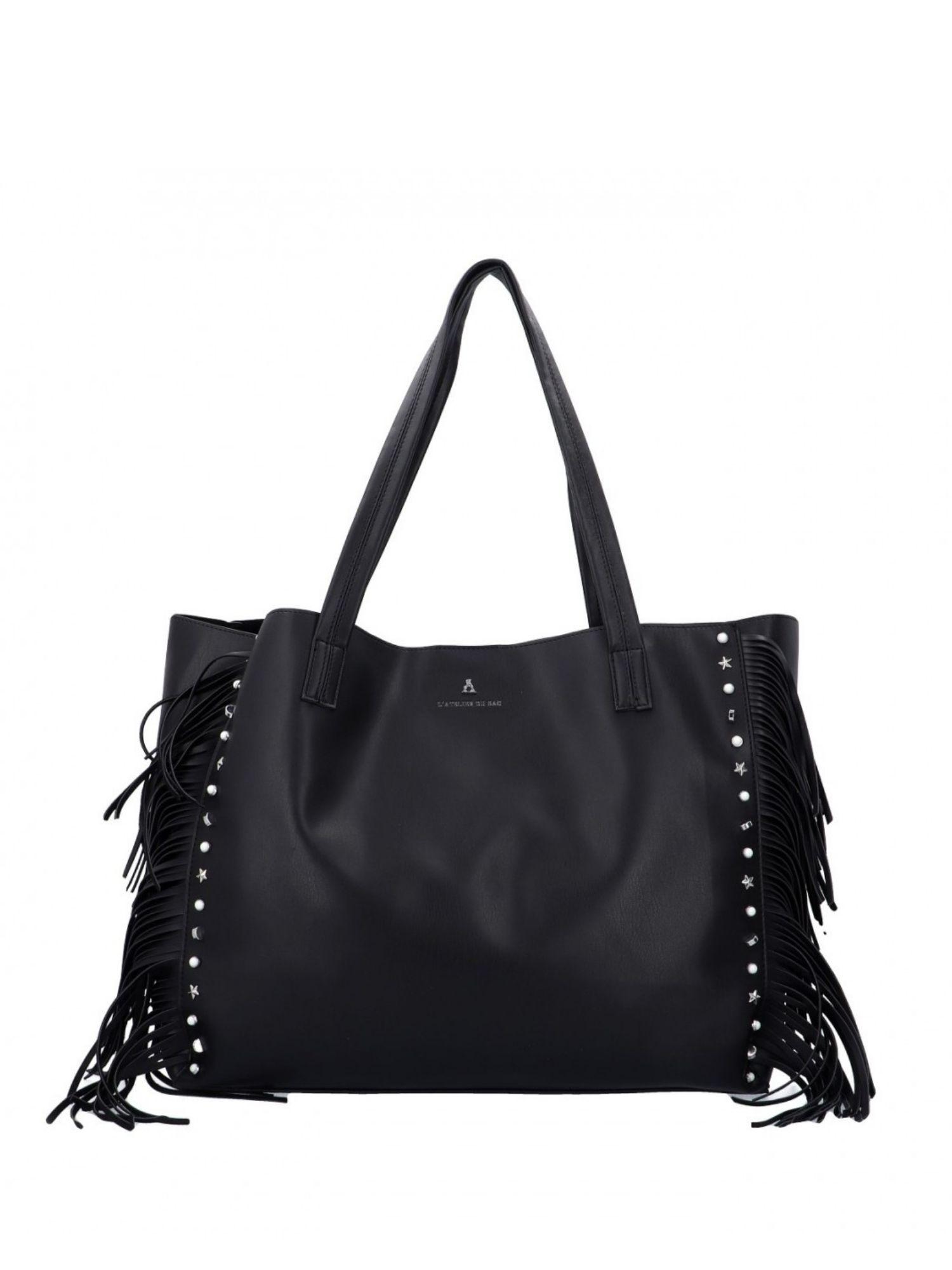 Pash Bag by L Atelier du Sac Shopper 10904 First Stop Megan Nero Pashmina
