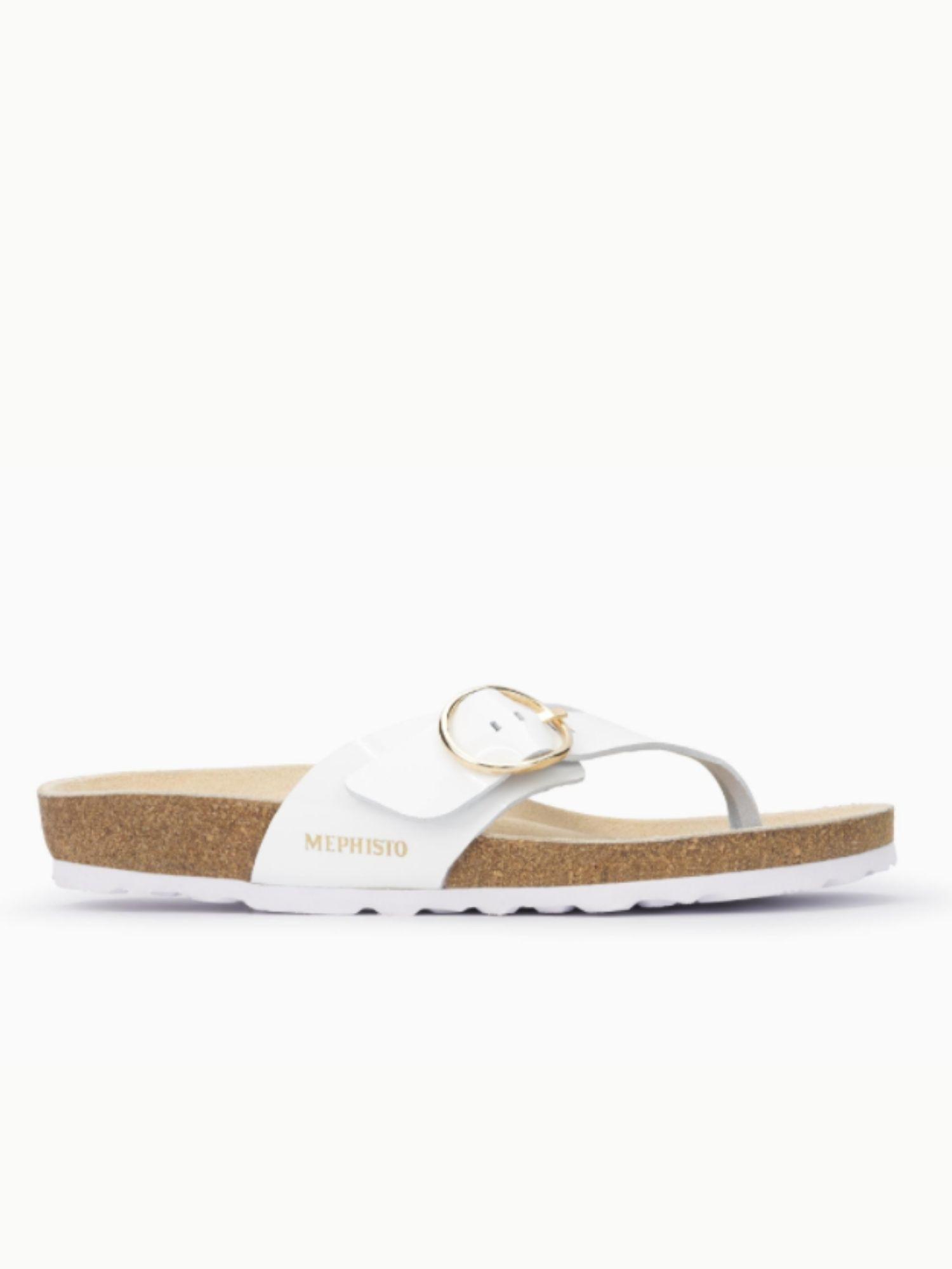 Sandalo Infradito Mephisto Natalina Bianco laterale
