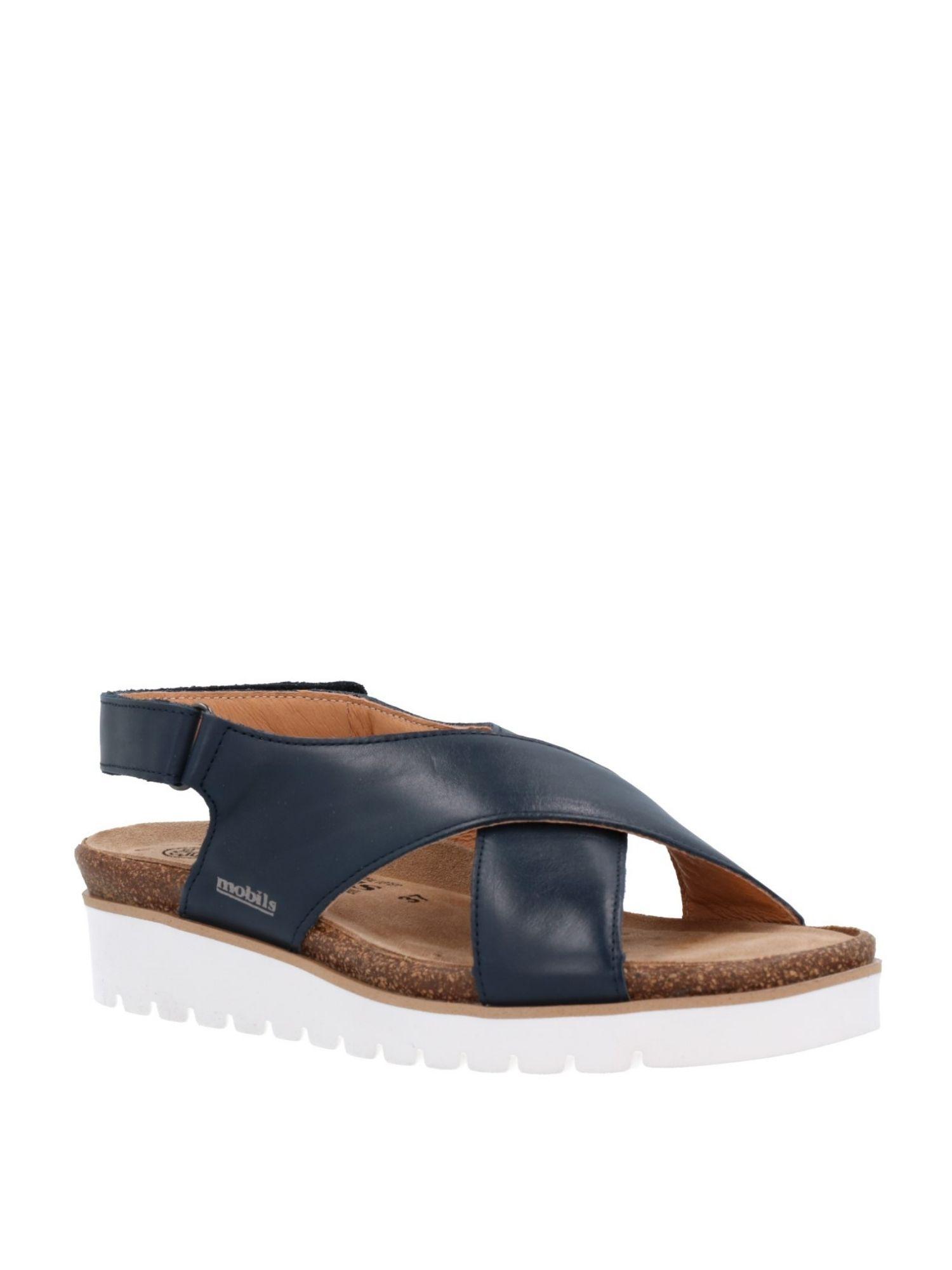 Sandalo Mephisto Tally Blu laterale