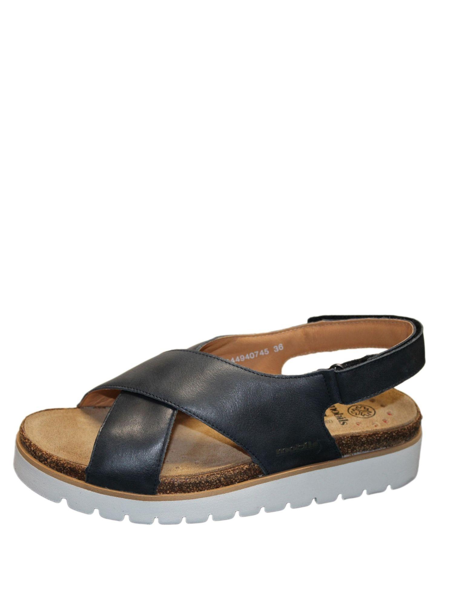Sandalo Mephisto Tally Blu lato 1