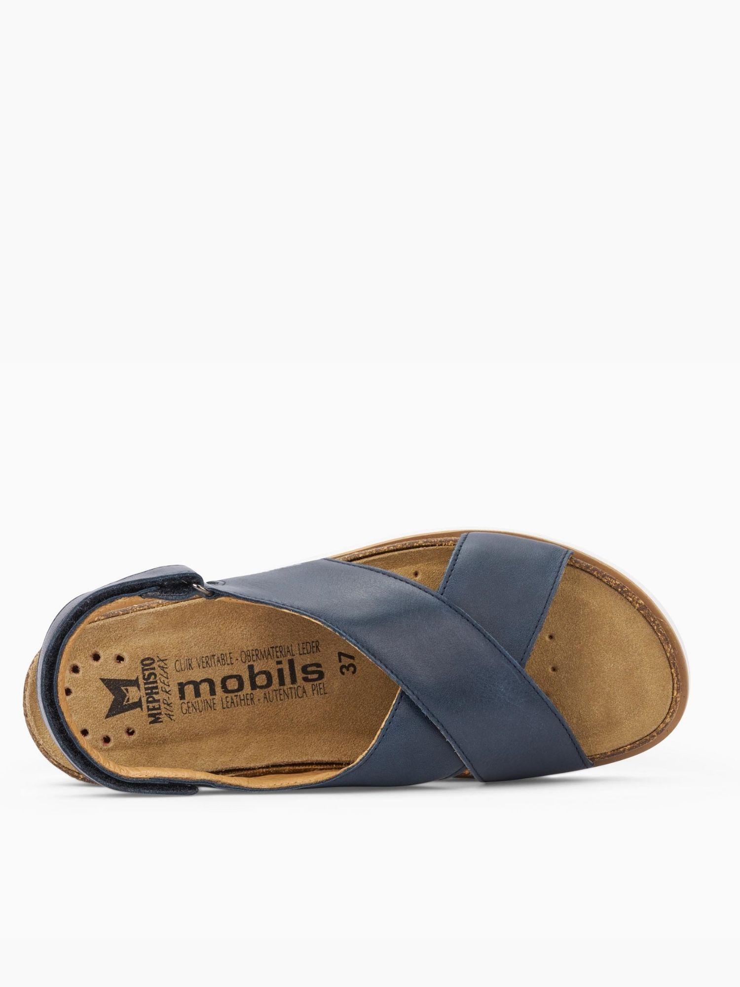 Sandalo Mephisto Tally Blu lato 2