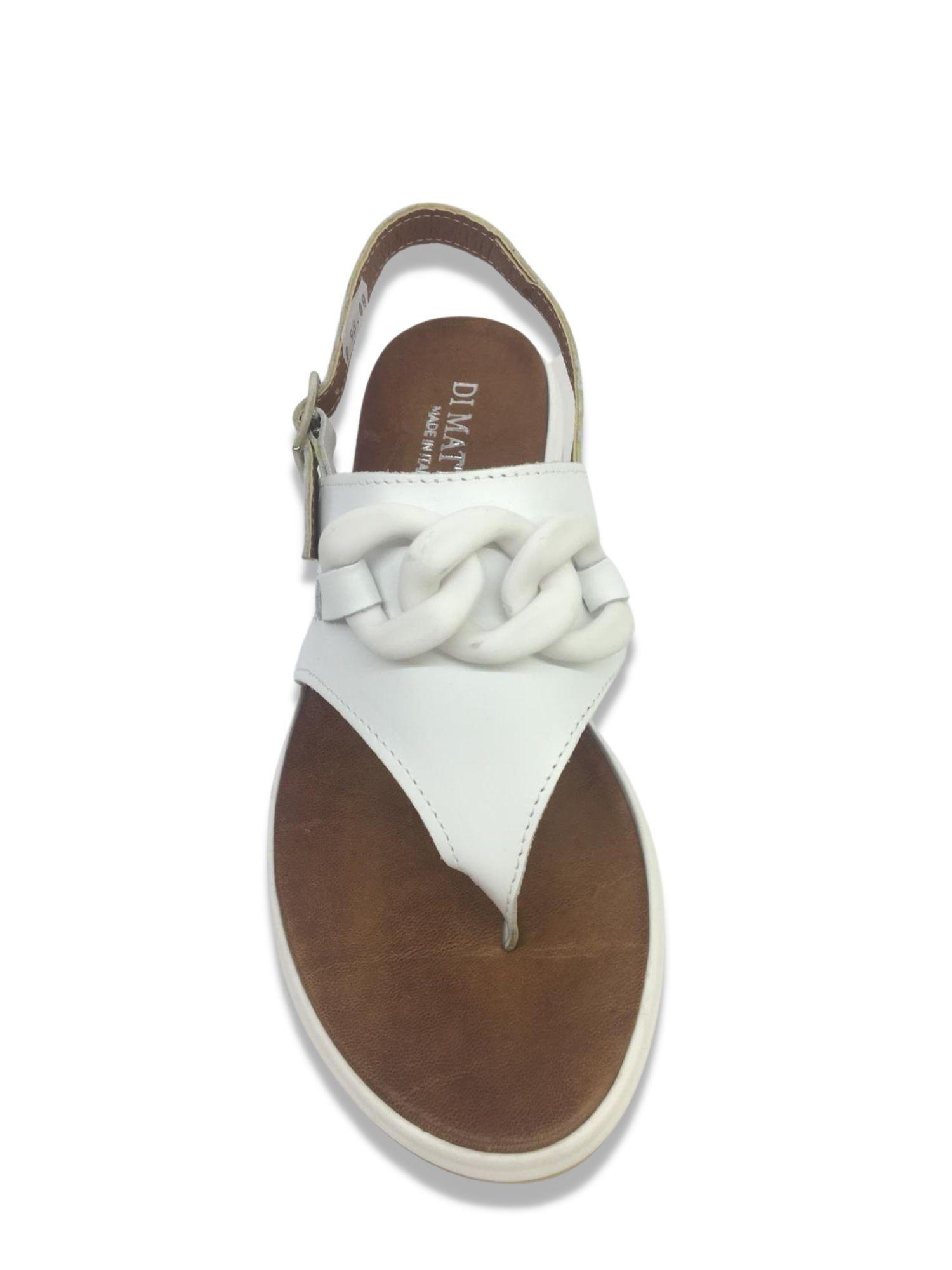 Sandalo Infradito Made in Italy 303 Bianco alto