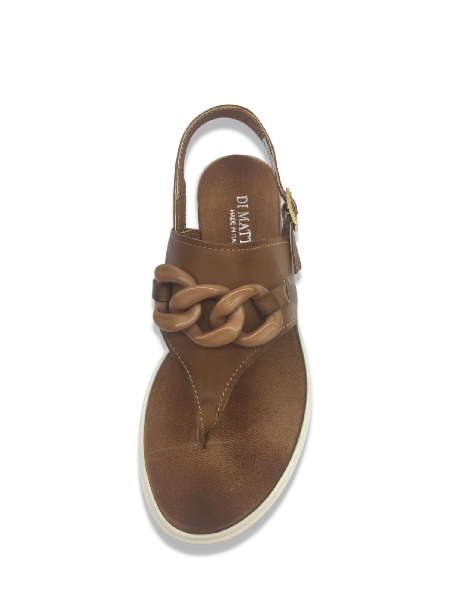 Sandalo Infradito Made in Italy 303 Cuoio alto