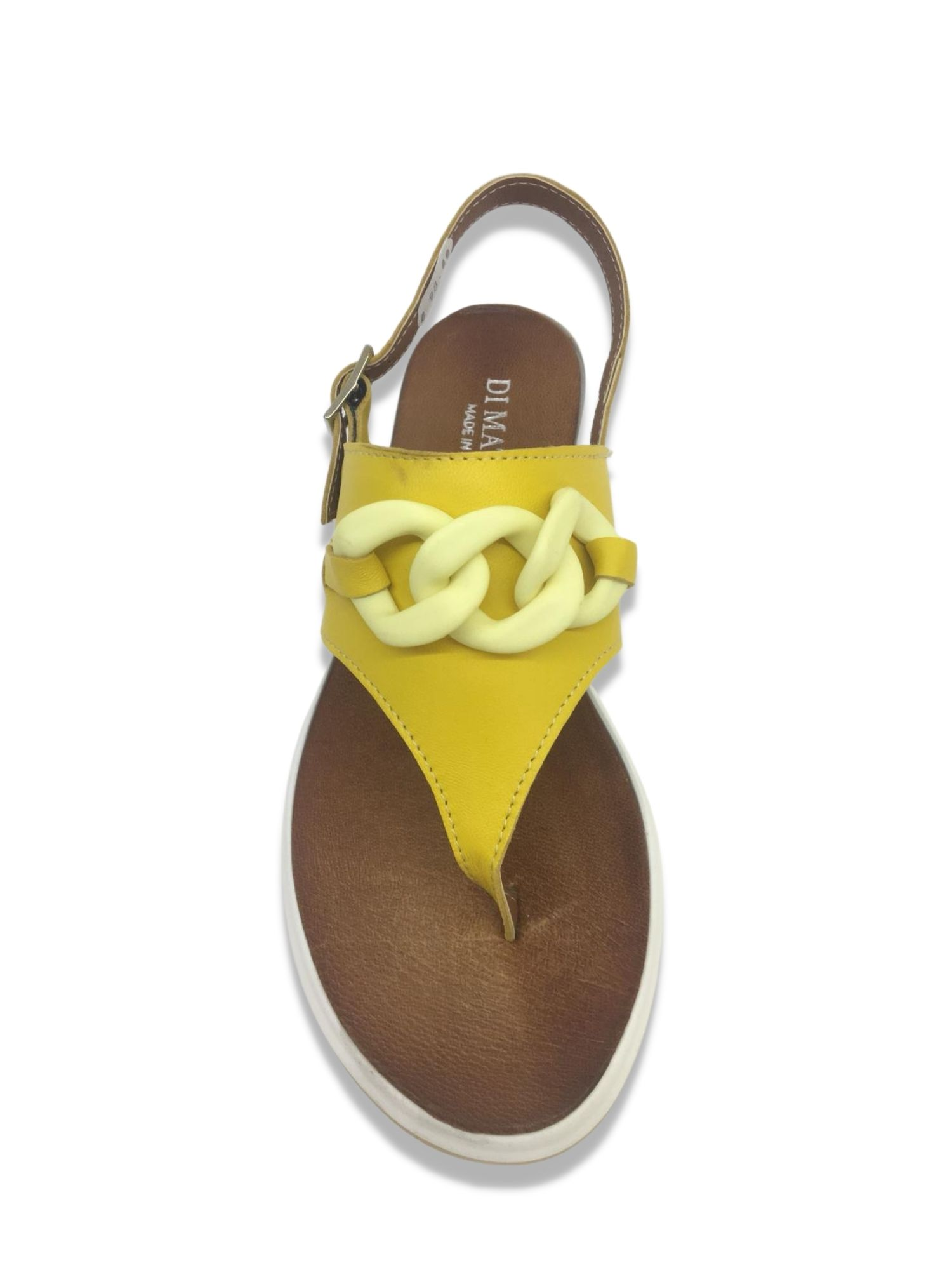Sandalo Infradito Made in Italy 303 Giallo alto
