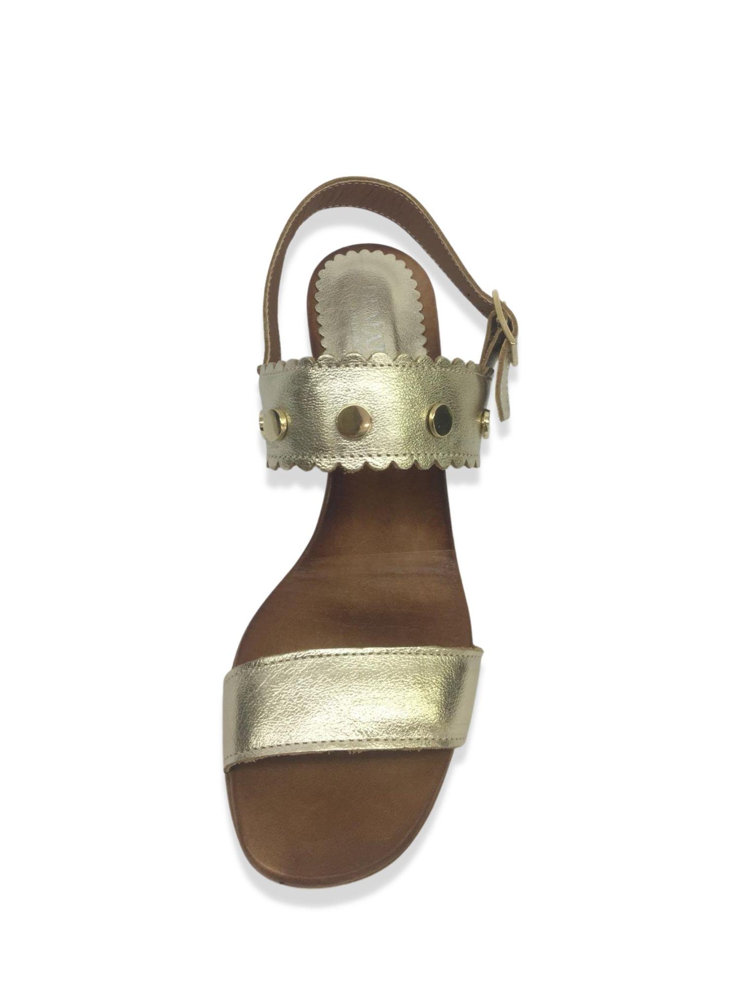 Sandalo Made in Italy 101 Platino alto