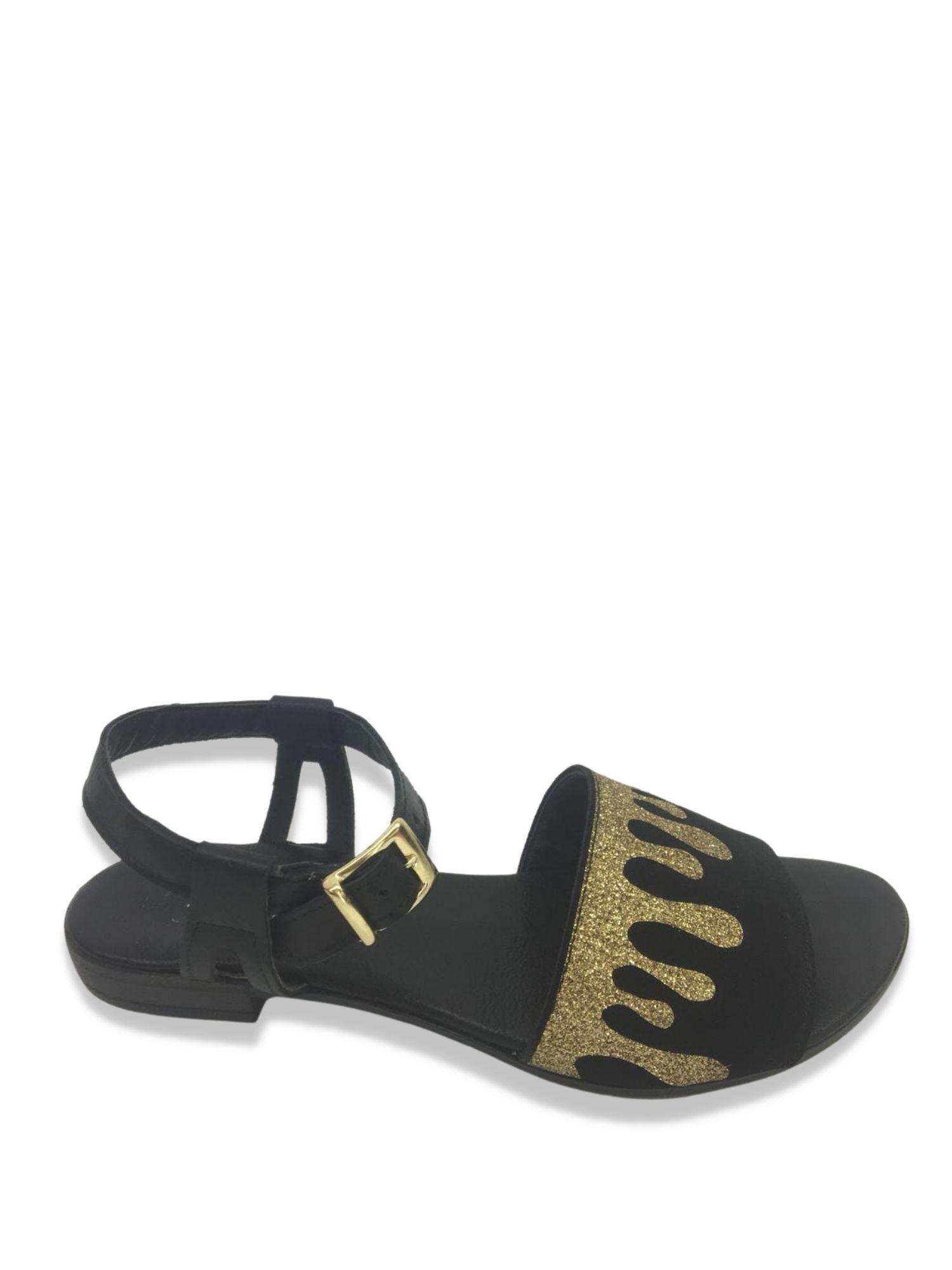 Sandalo Made in Italy 201 Nero/Oro