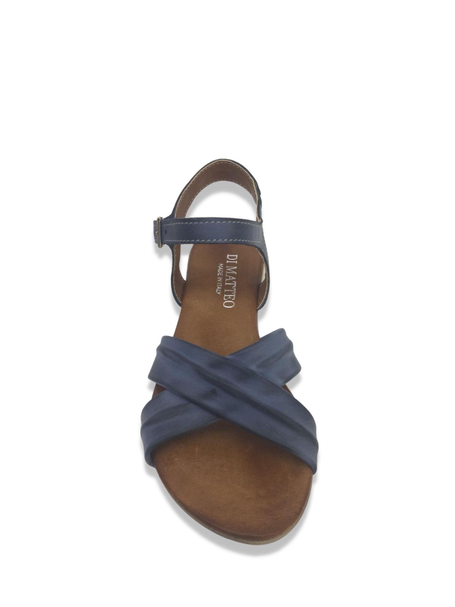 Sandalo Made in Italy 204 Blu alto