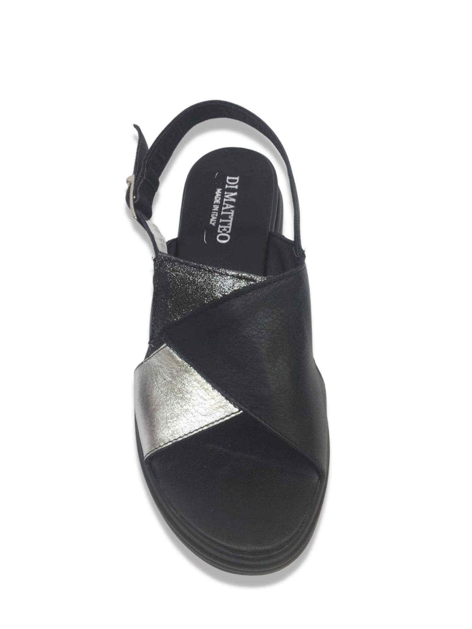 Sandalo Made in Italy 409 Nero alto 1