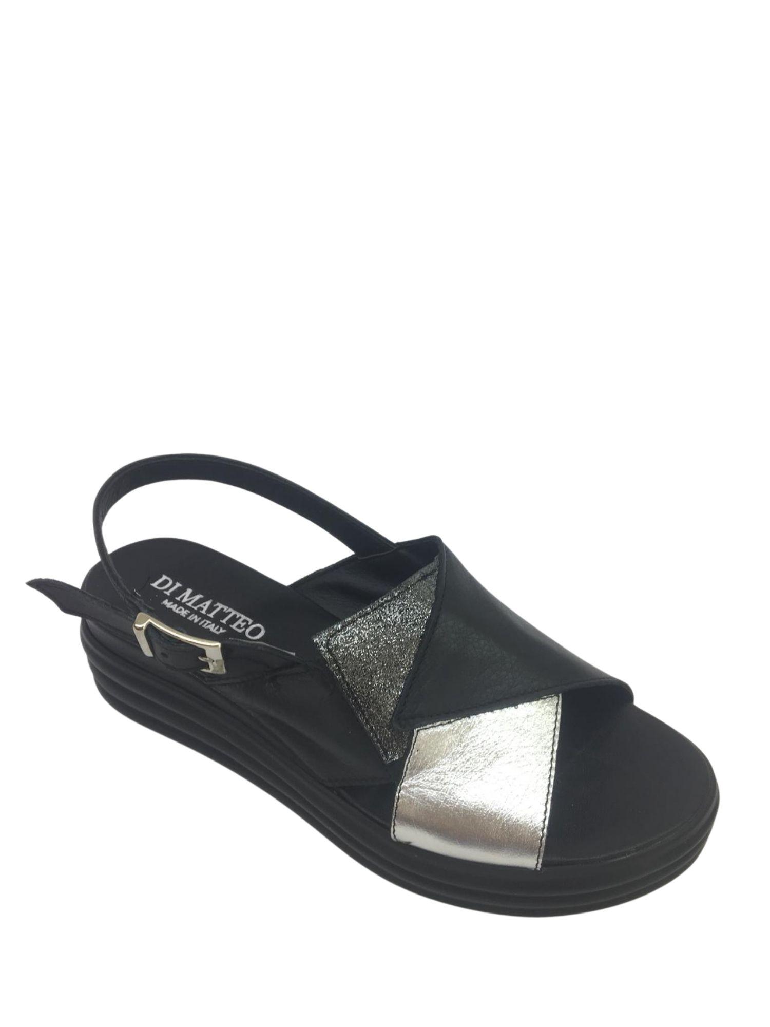 Sandalo Made in Italy 409 Nero alto 2