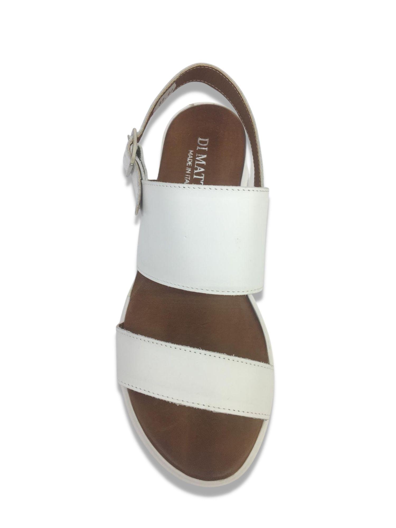 Sandalo Made in Italy 413 Bianco alto