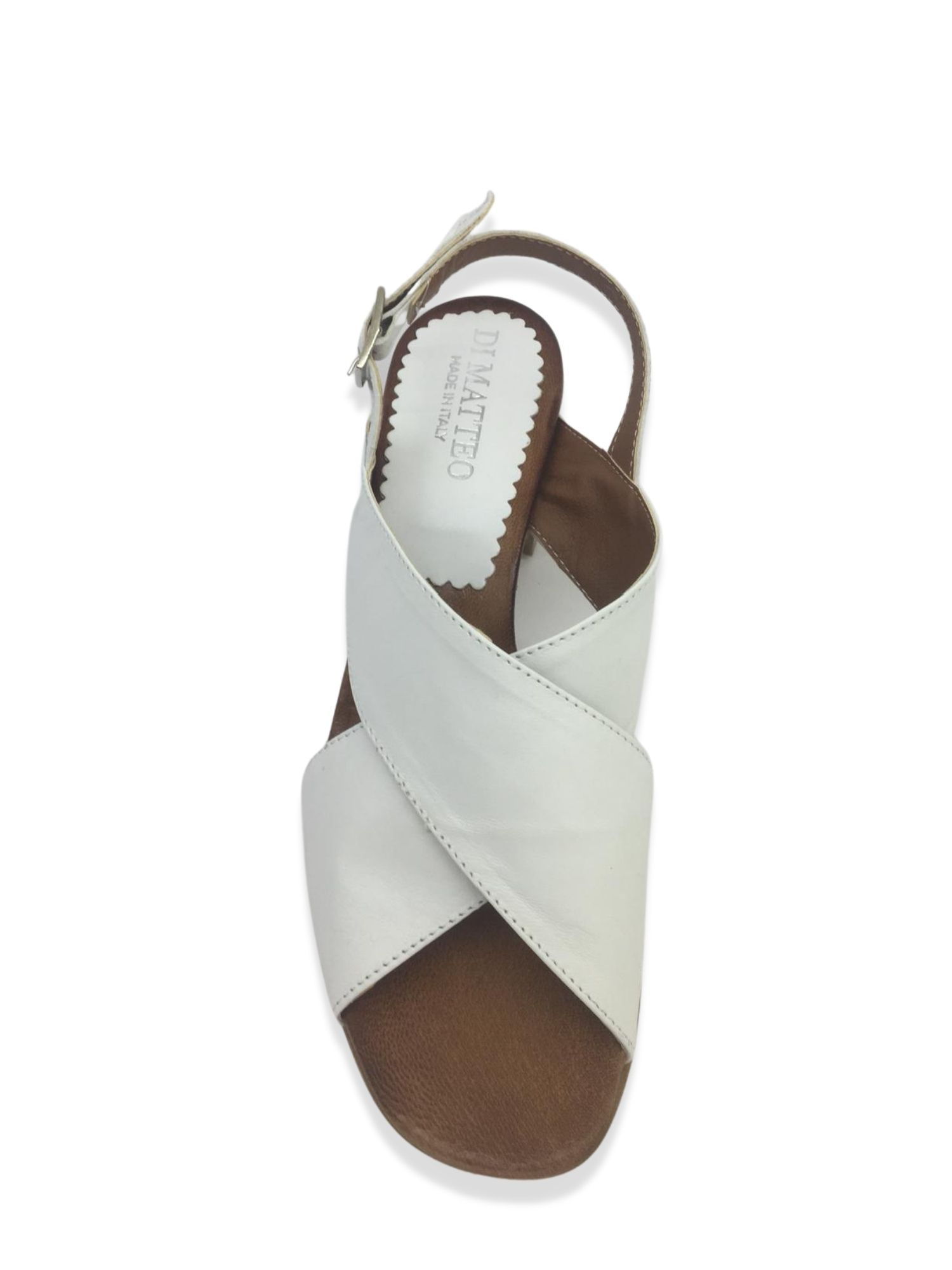 Sandalo Made in Italy 505 Bianco alto 1
