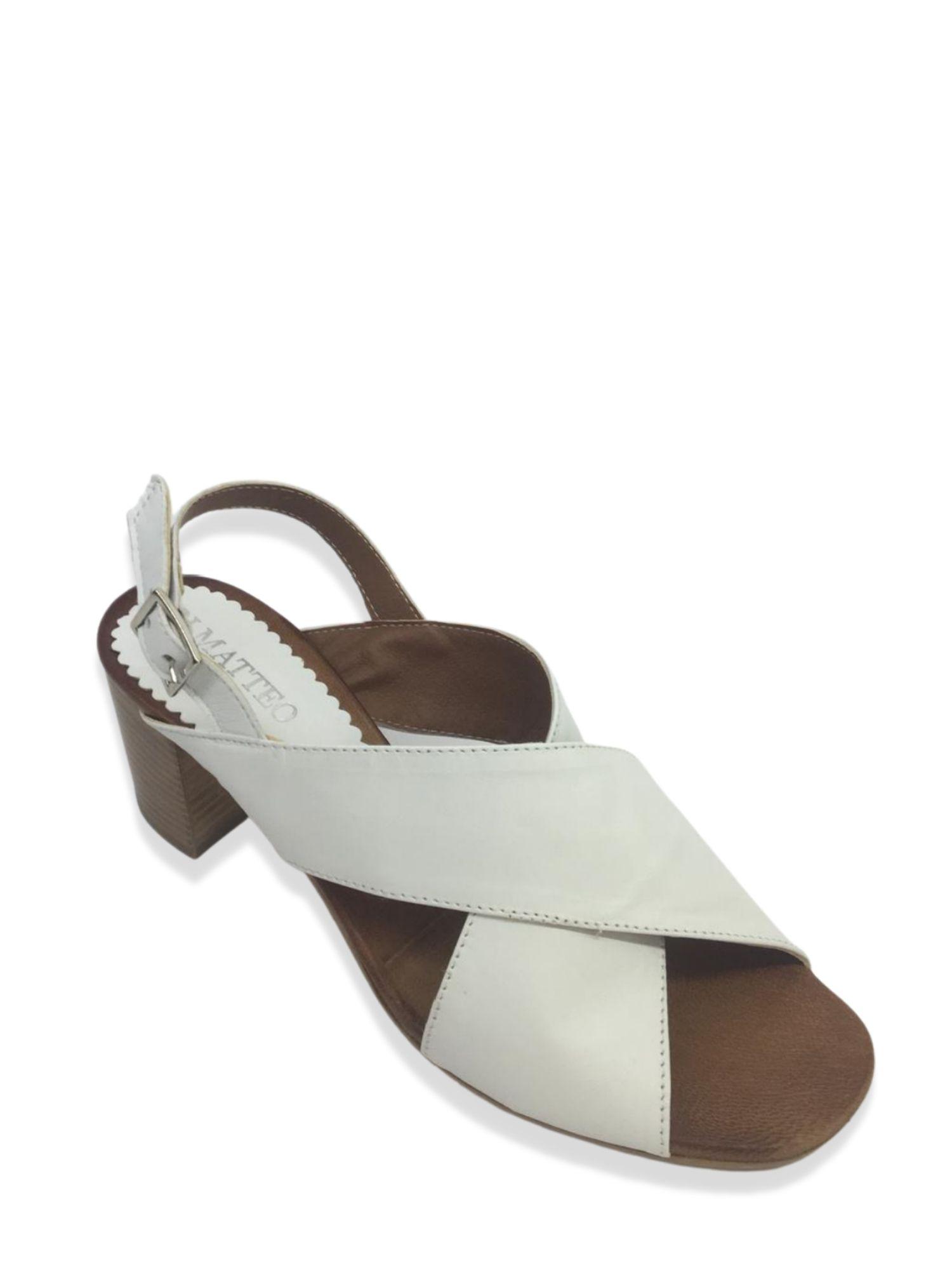 Sandalo Made in Italy 505 Bianco alto 2