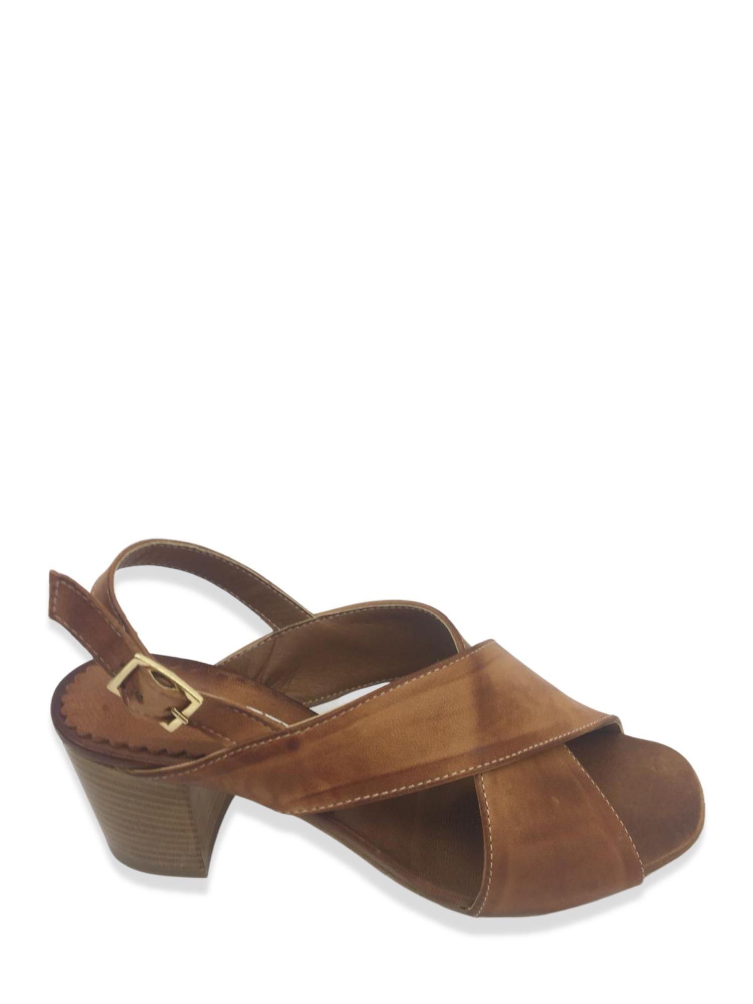 Sandalo Made in Italy 505 Cuoio alto 1