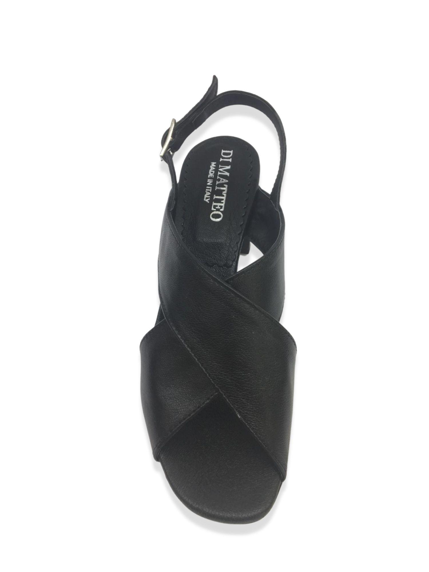 Sandalo Made in Italy 505 Nero alto 1