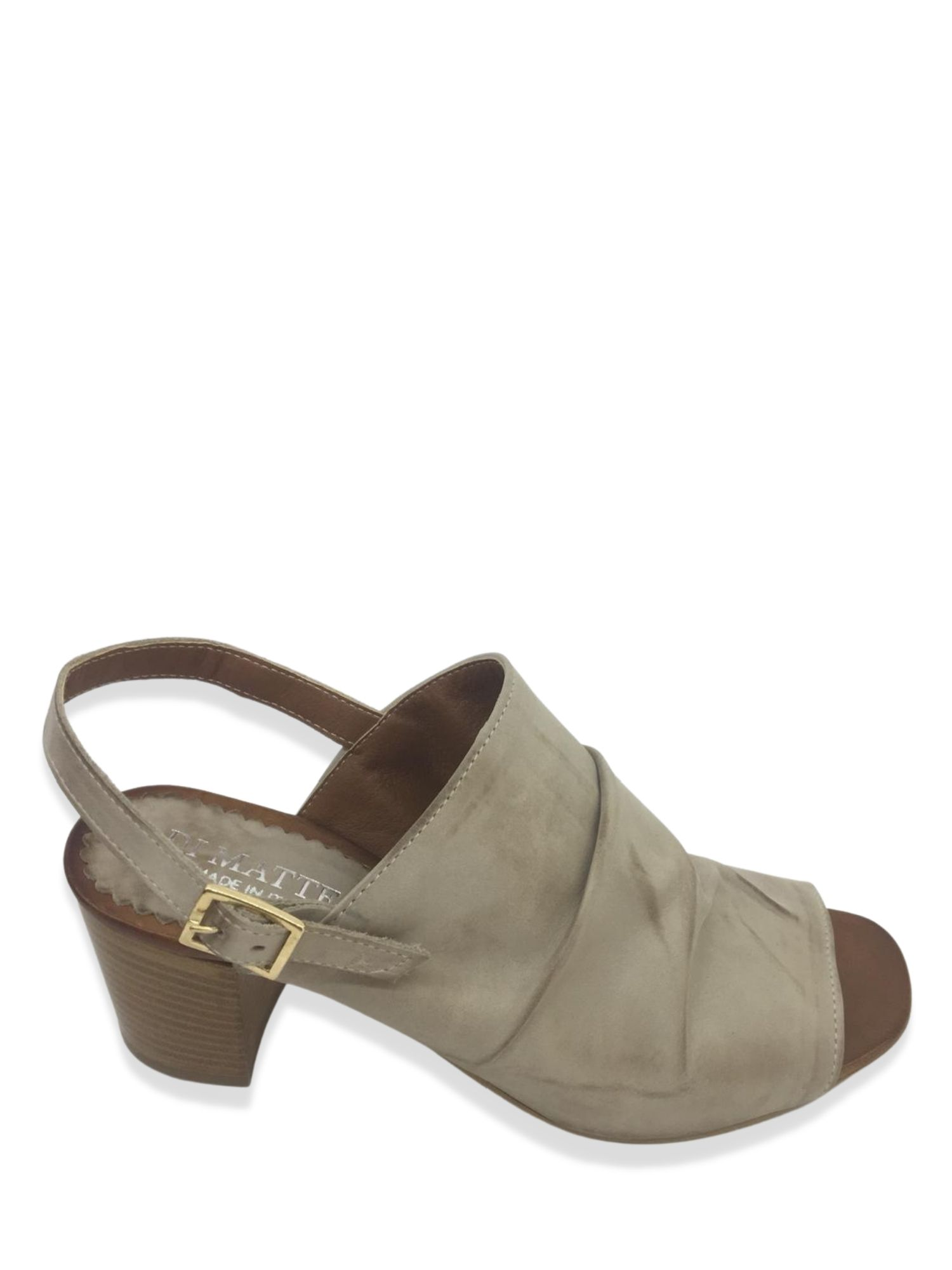 Sandalo Sabot Made in Italy 106 Taupe
