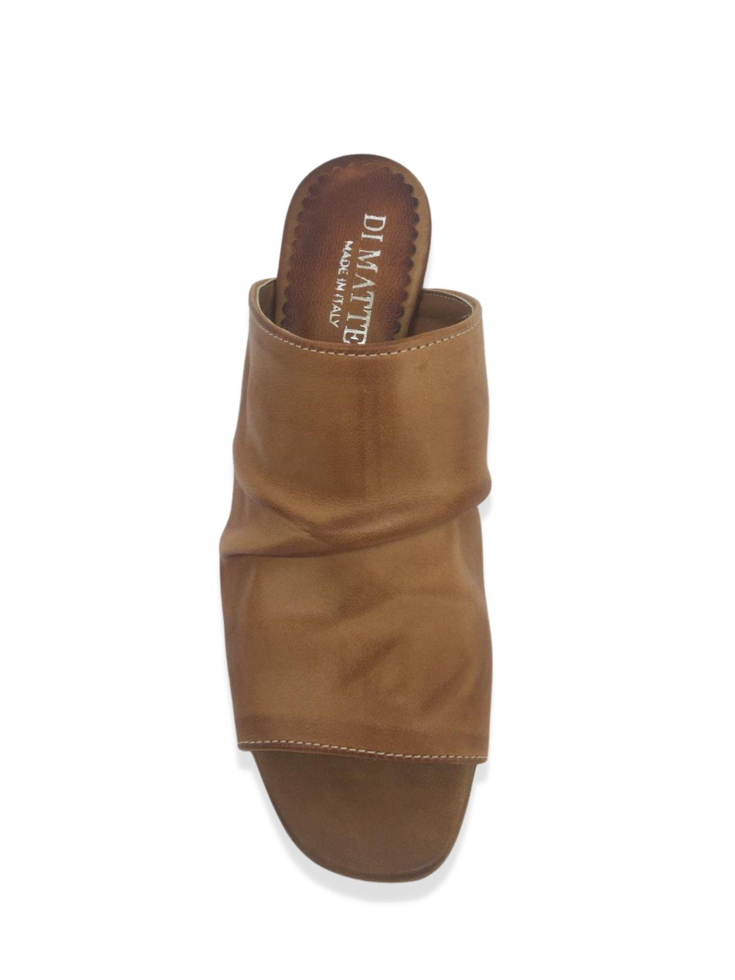 Sandalo Sabot Made in Italy 107 Cuoio alto