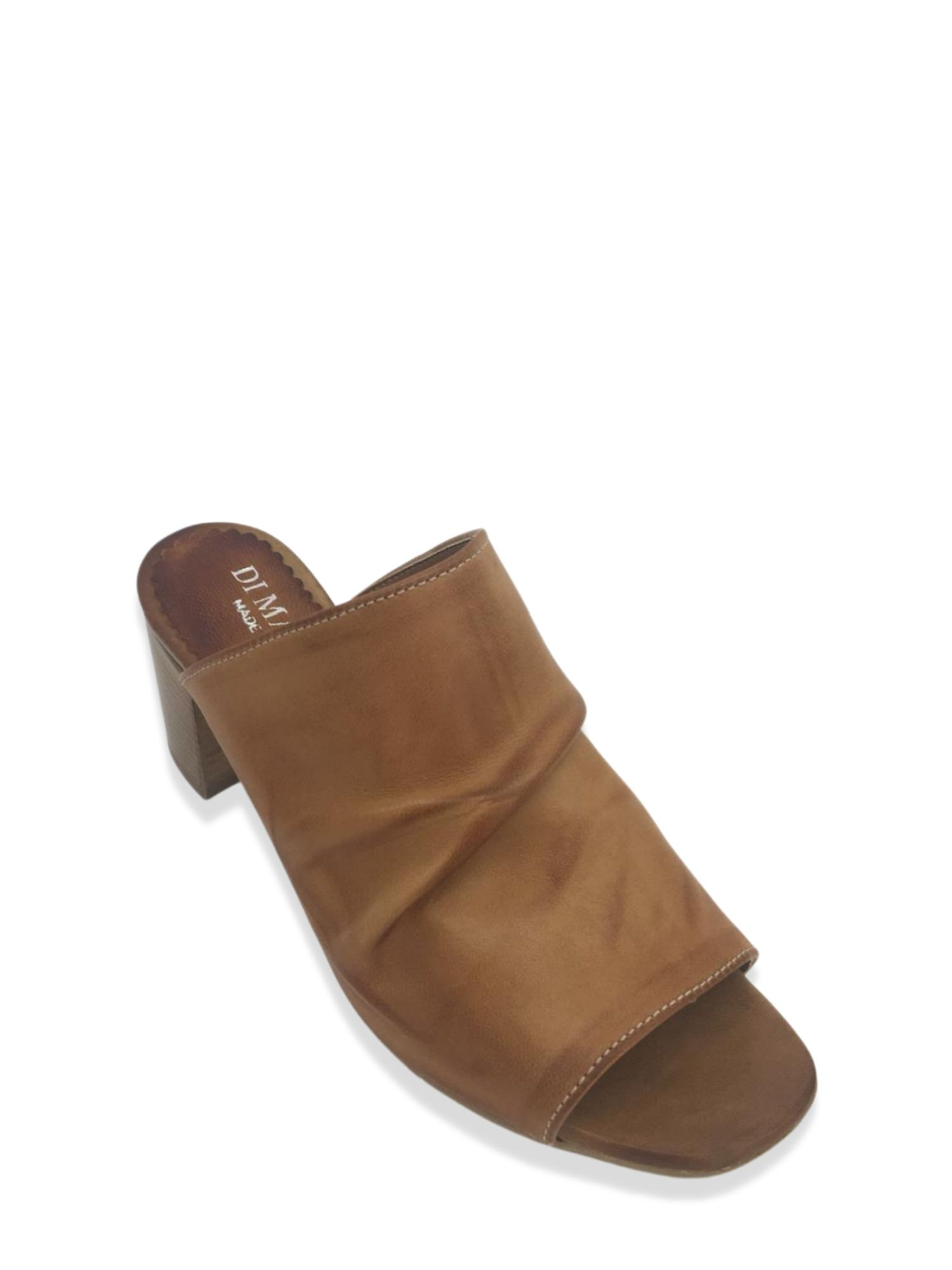Sandalo Sabot Made in Italy 107 Cuoio laterale