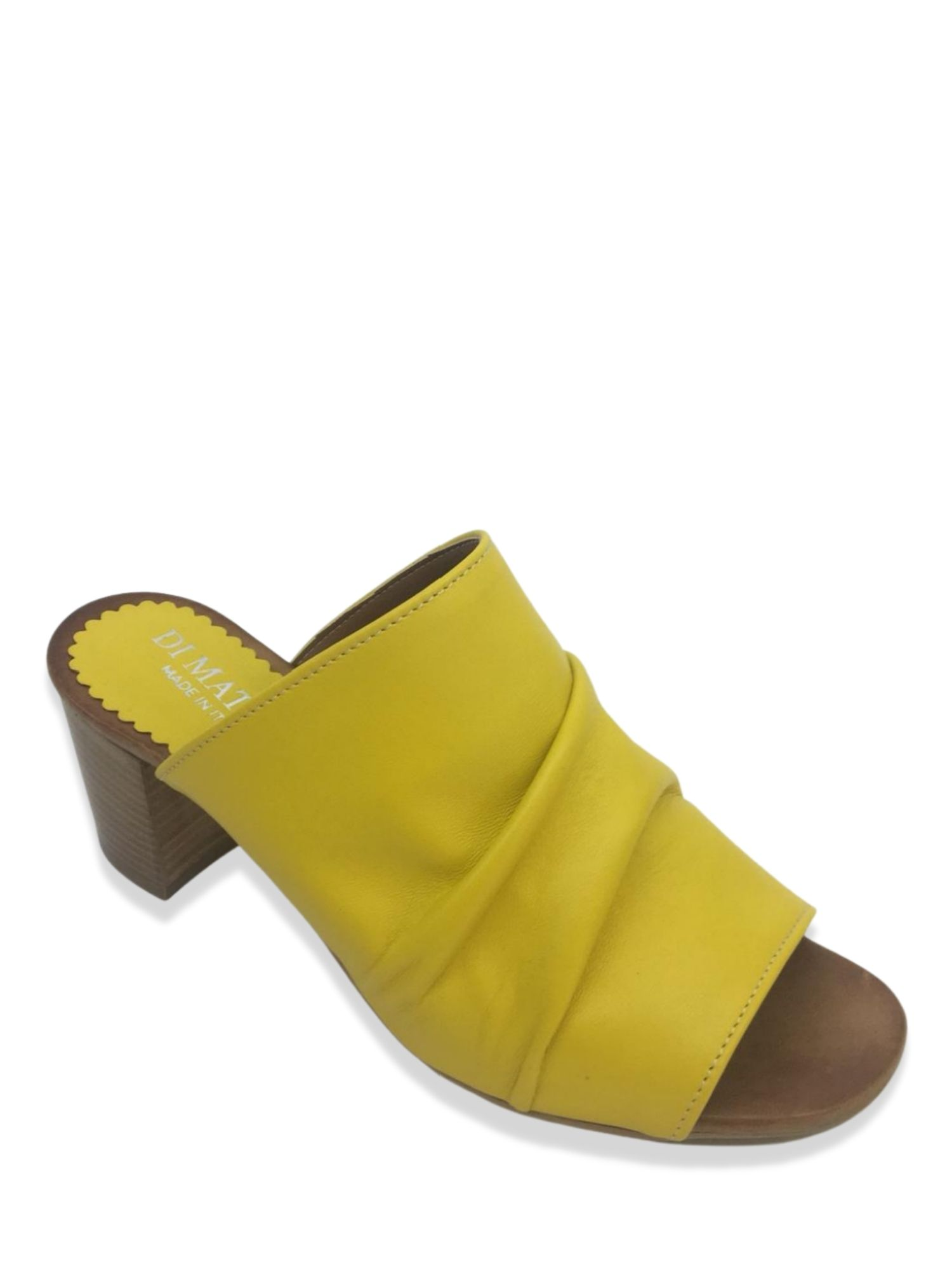 Sandalo Sabot Made in Italy 107 Giallo laterale
