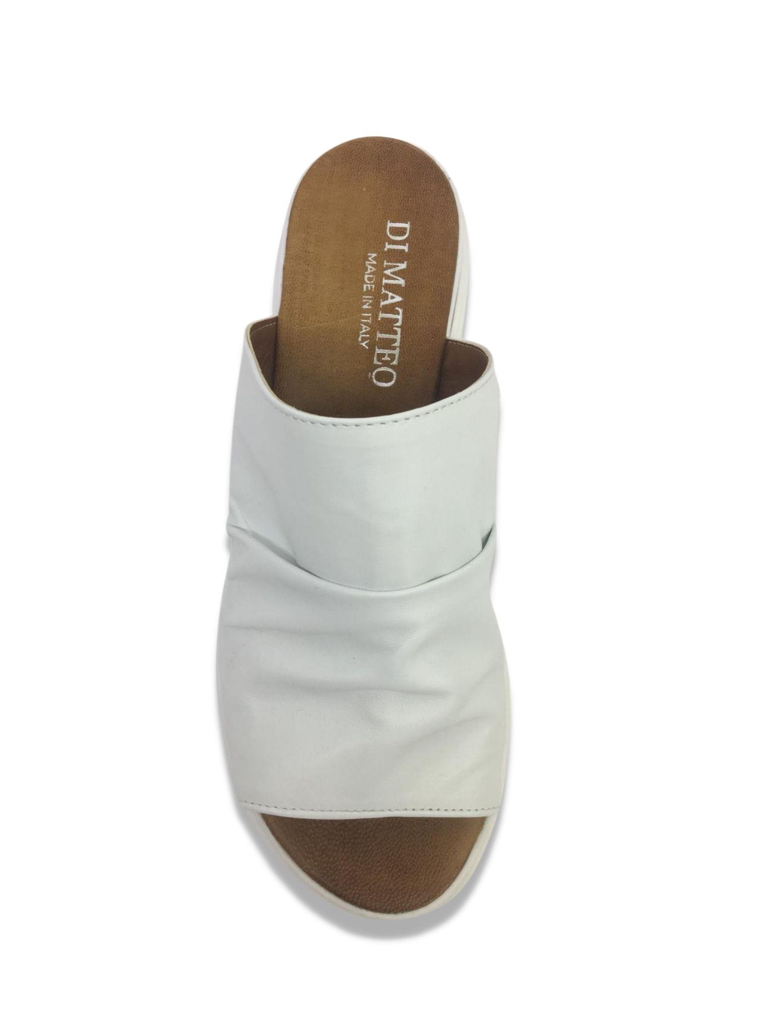Sandalo Sabot Made in Italy 404 Bianco alto 1