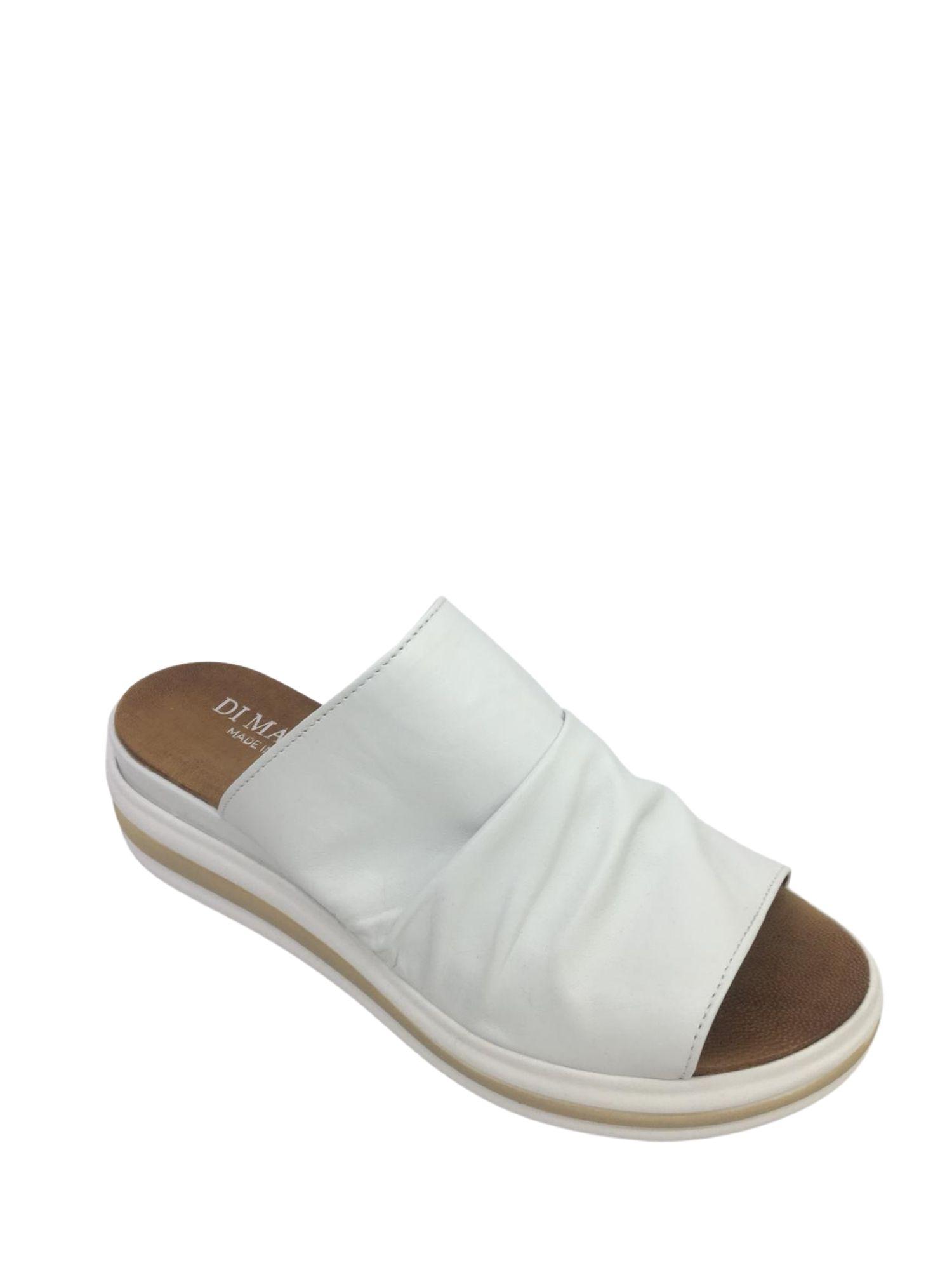 Sandalo Sabot Made in Italy 404 Bianco alto 2
