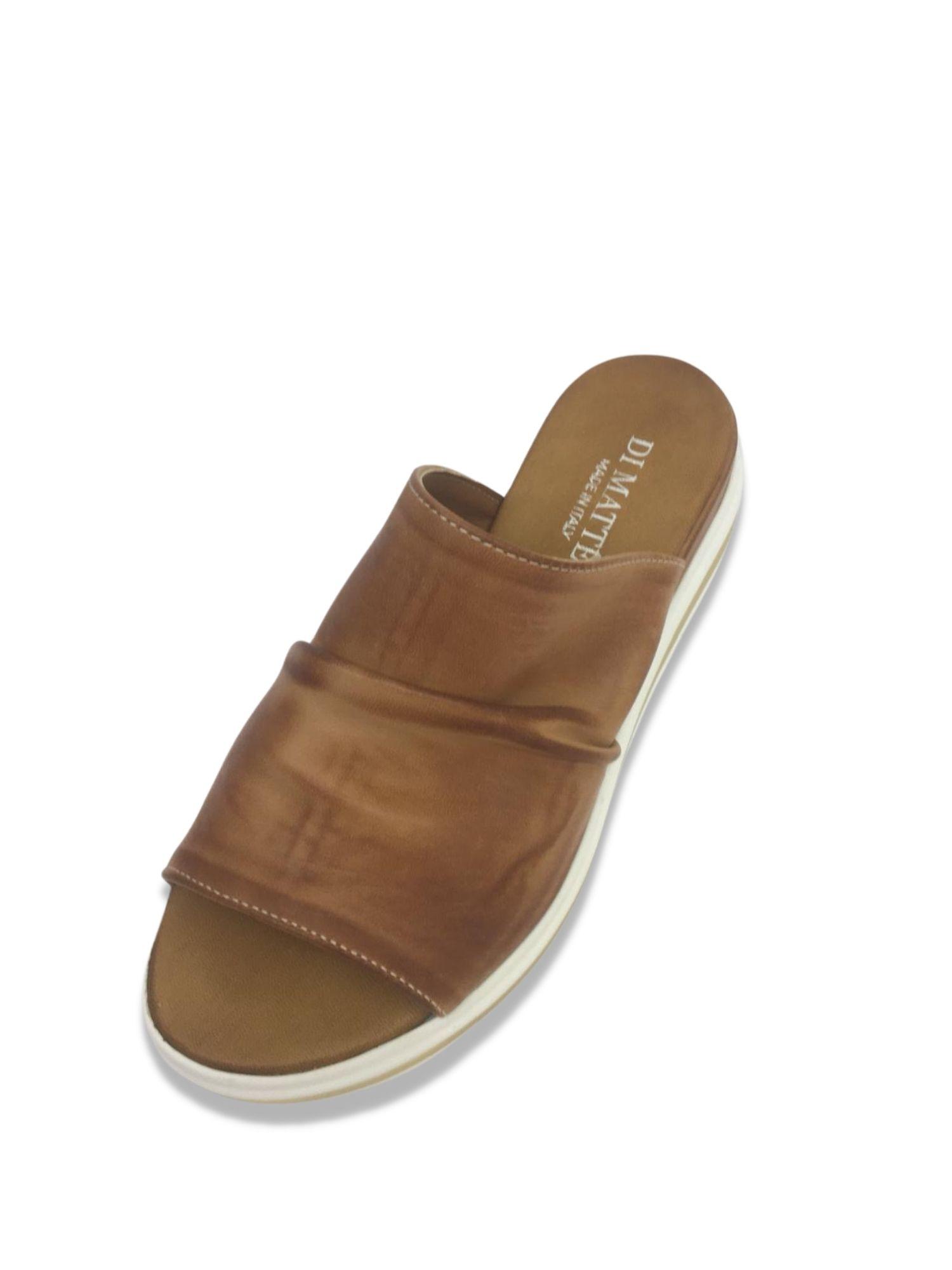 Sandalo Sabot Made in Italy 404 Cuoio alto