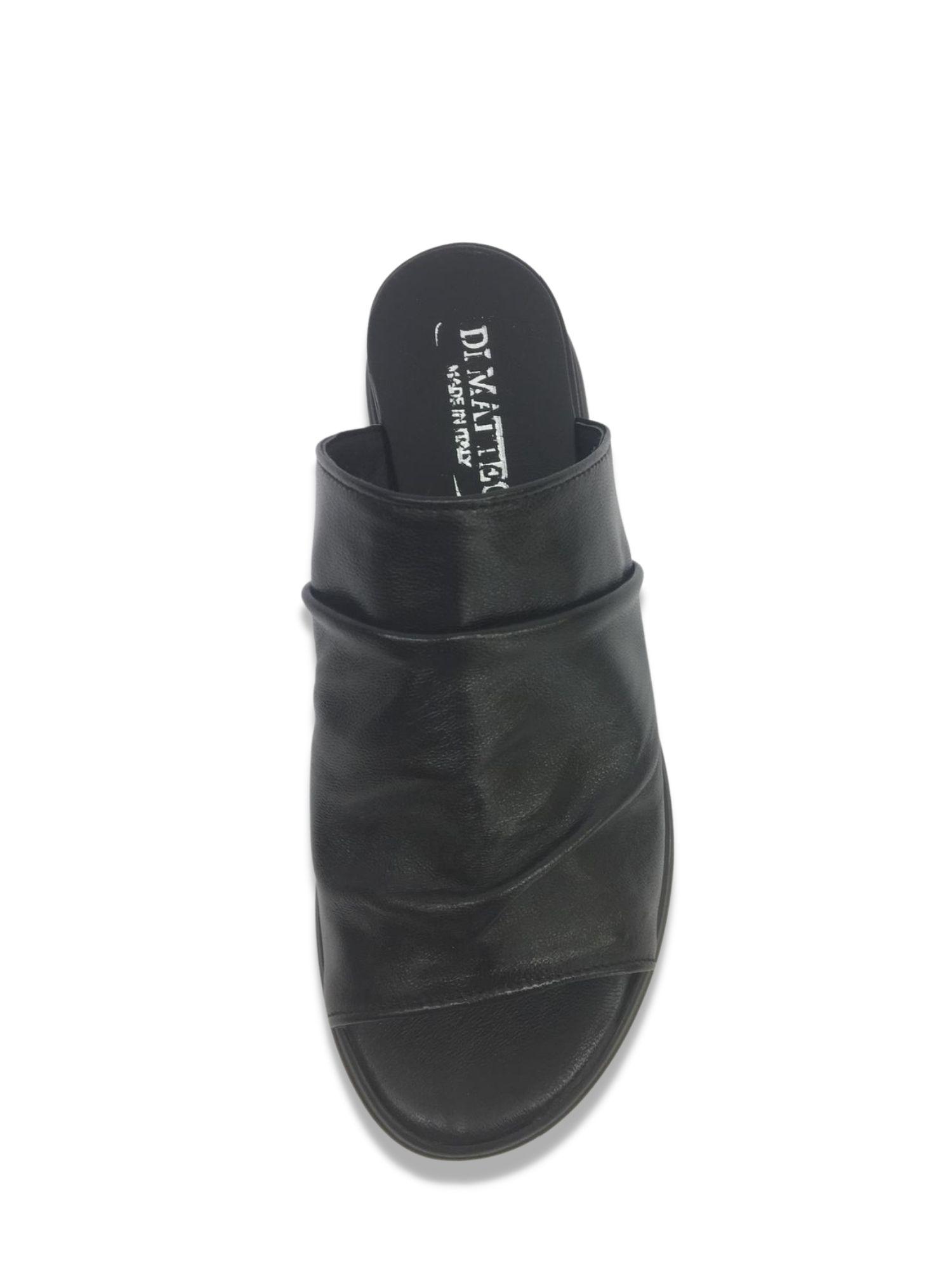Sandalo Sabot Made in Italy 404 Nero alto