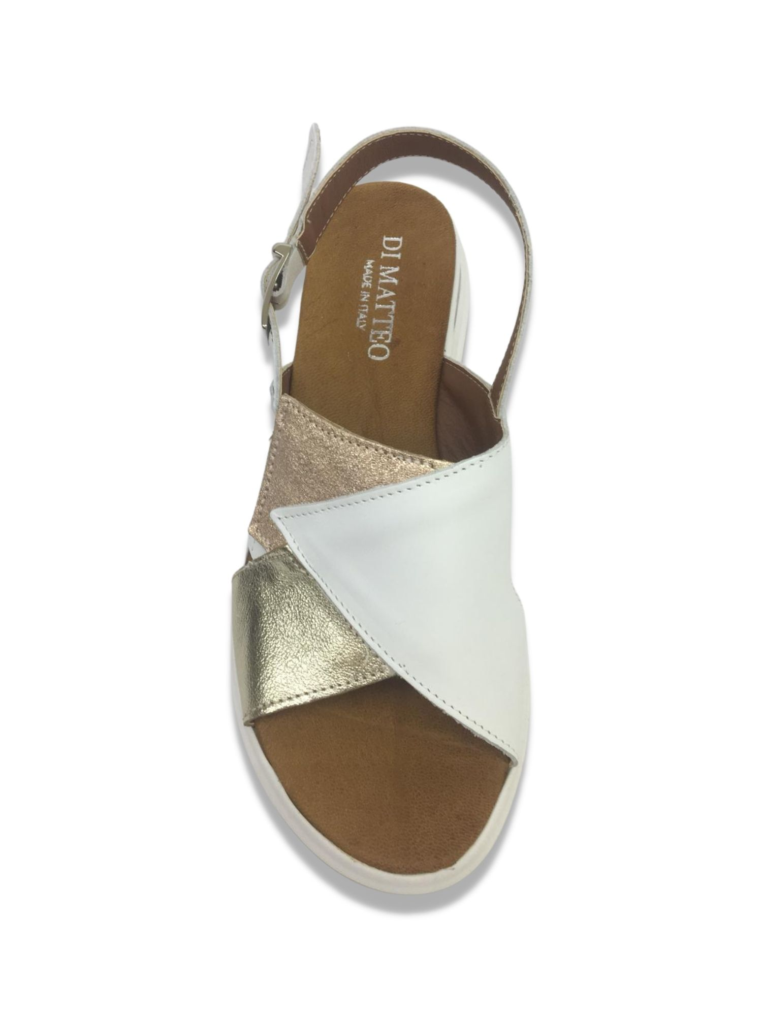 Sandalo Sabot Made in Italy 409 Bianco alto