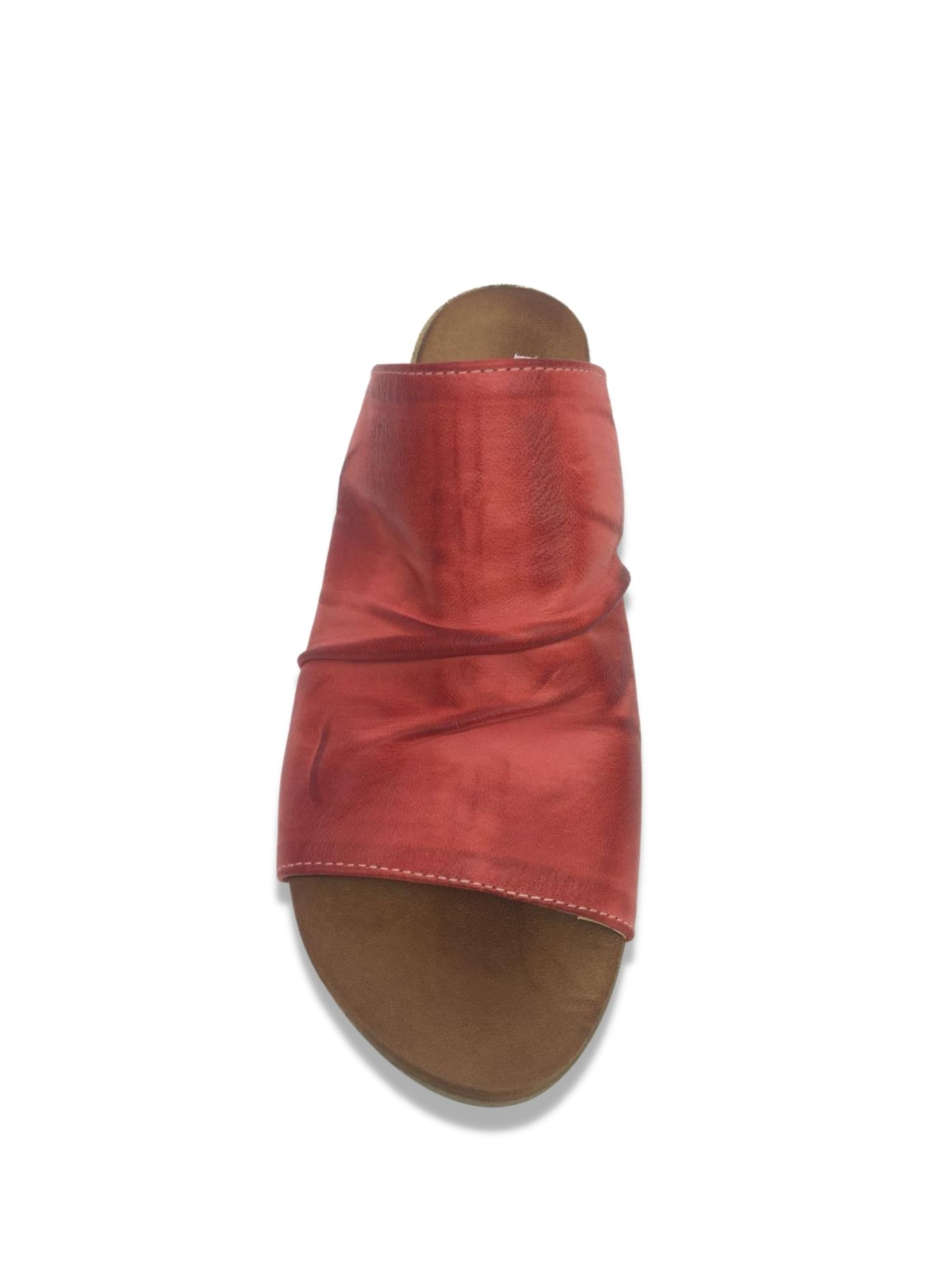 Sandalo Scalzato Made in Italy 207 Rosso alto