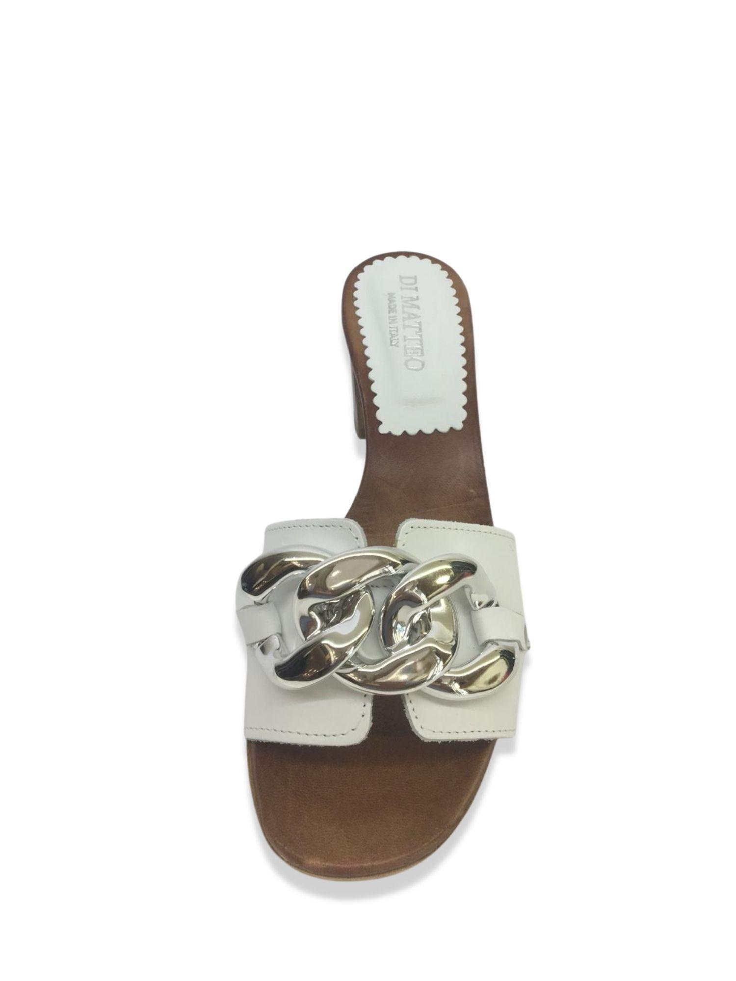 Sandalo Scalzato Made in Italy 500 Bianco alto 1