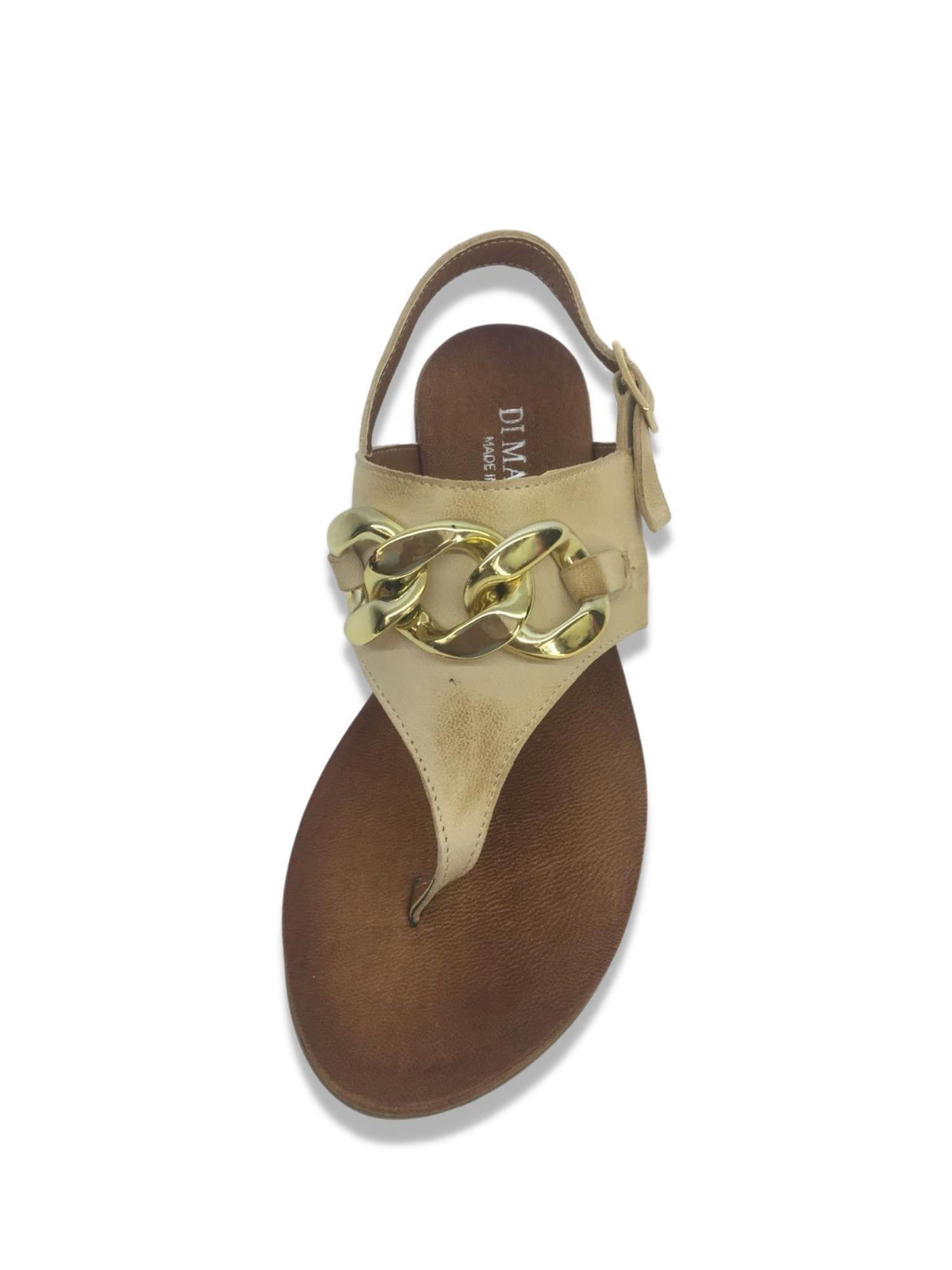 Sandalo infradito Made in Italy 203 Beige alto
