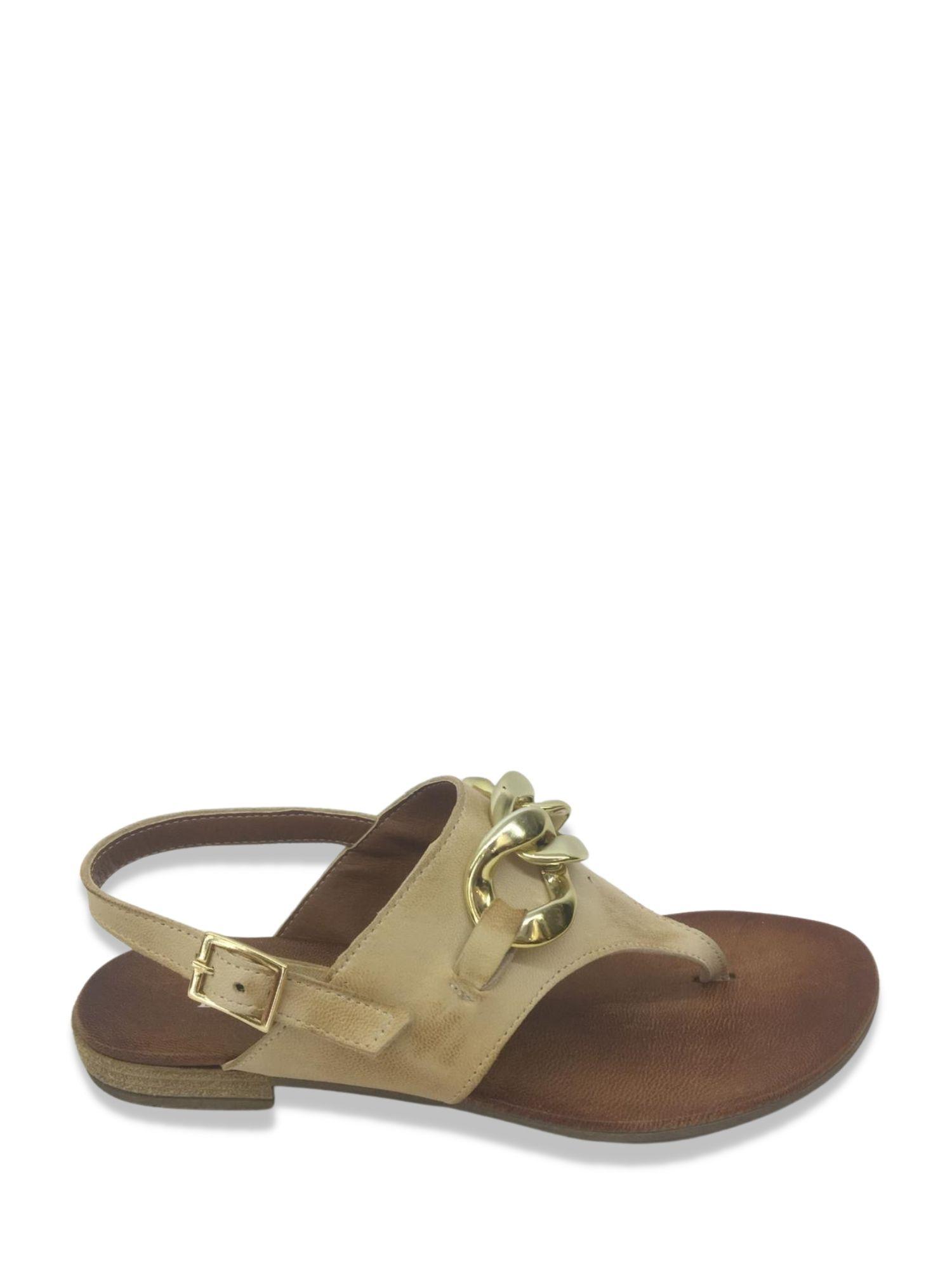 Sandalo infradito Made in Italy 203 Beige