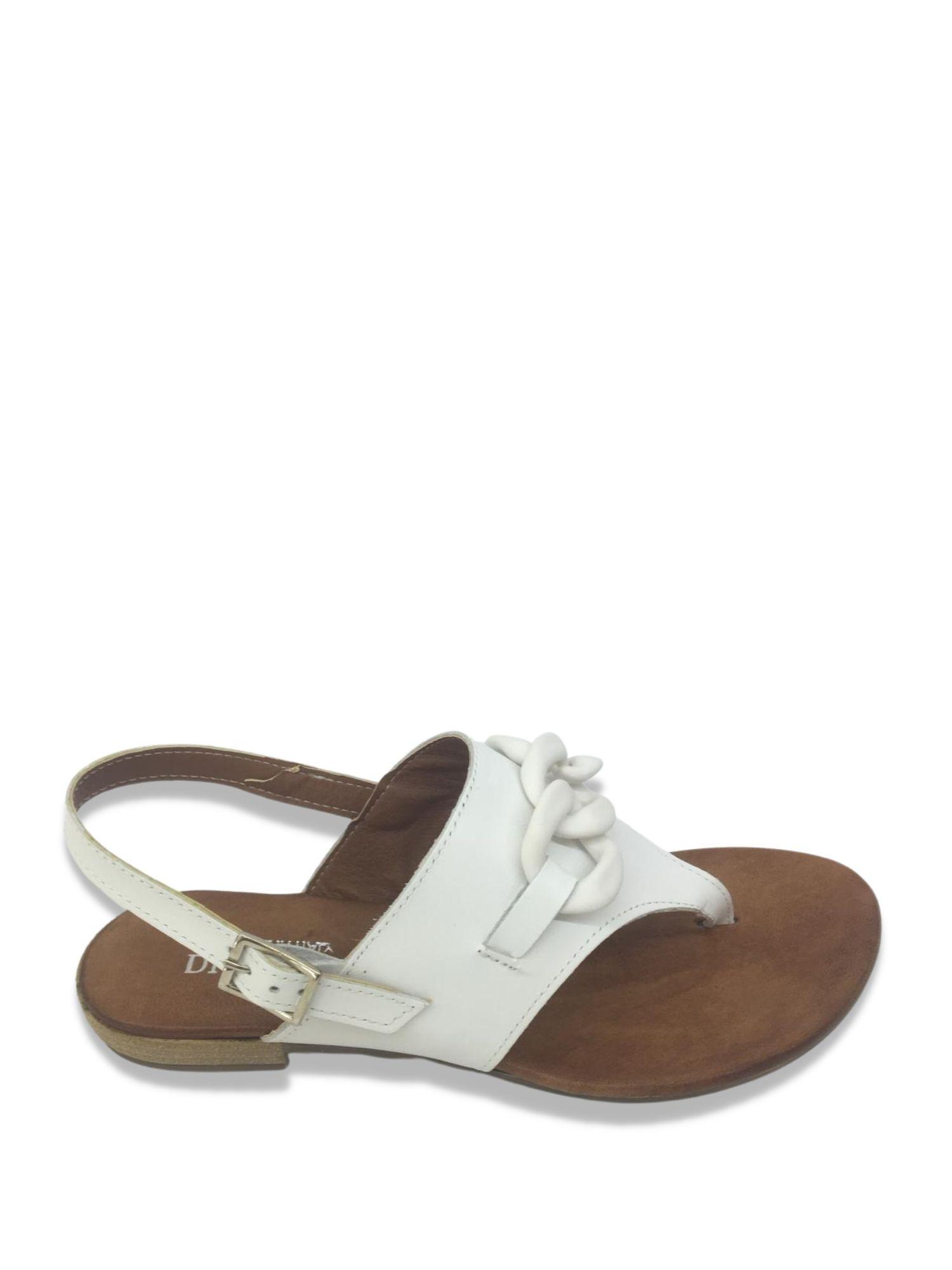 Sandalo infradito Made in Italy 203 Bianco