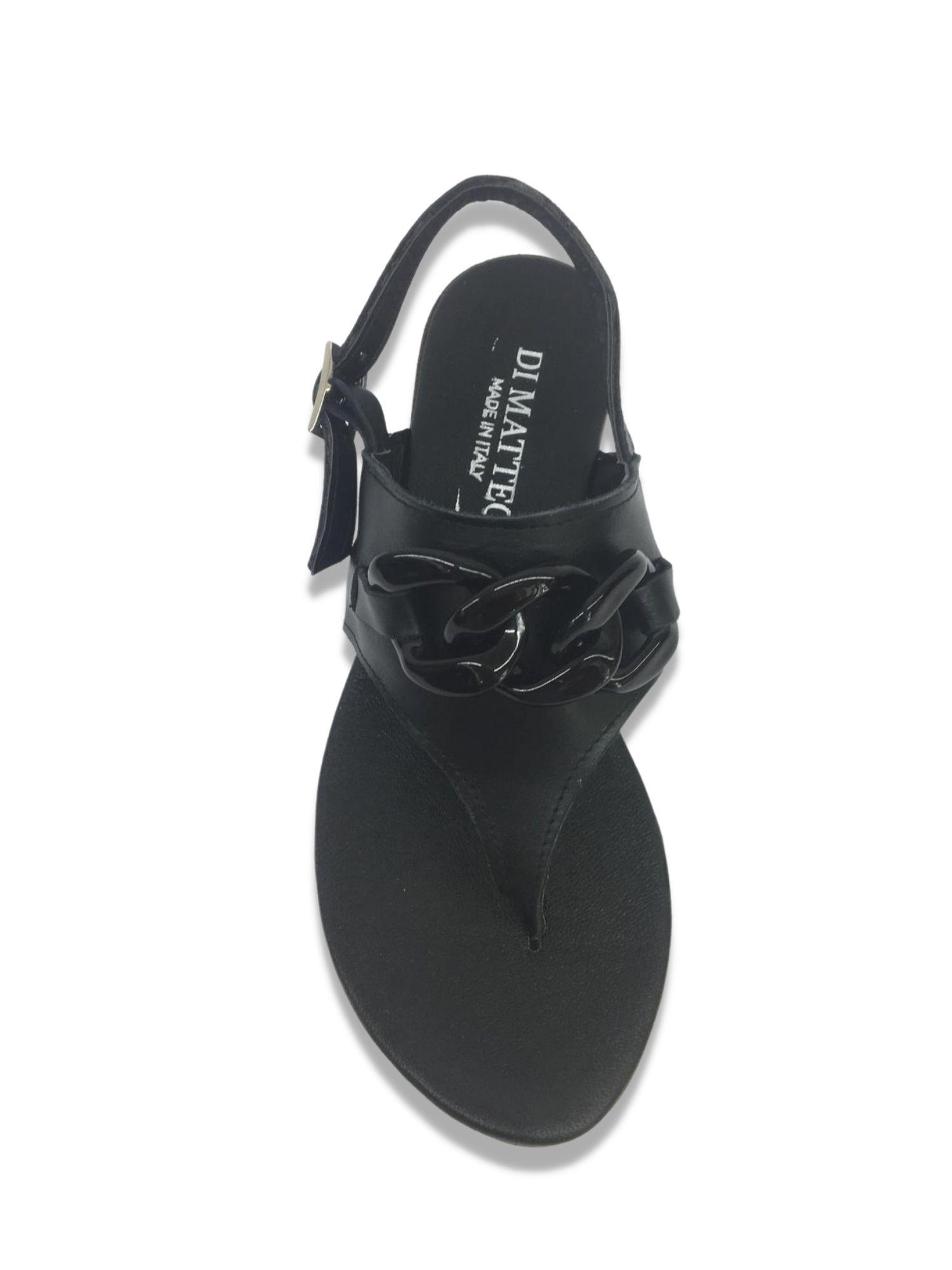 Sandalo infradito Made in Italy 203 Nero alto