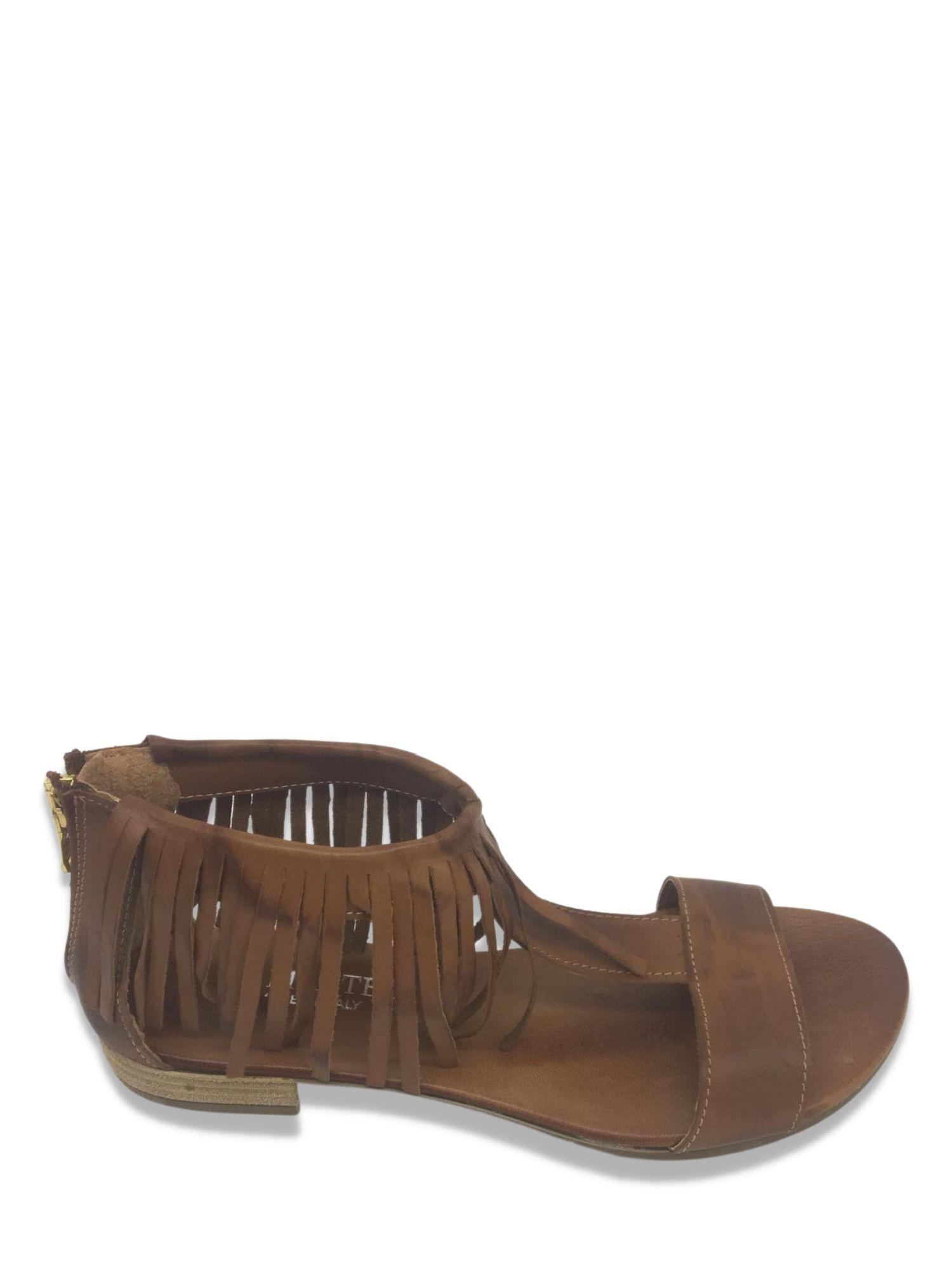 Sandalo infradito Made in Italy 215 cuoio